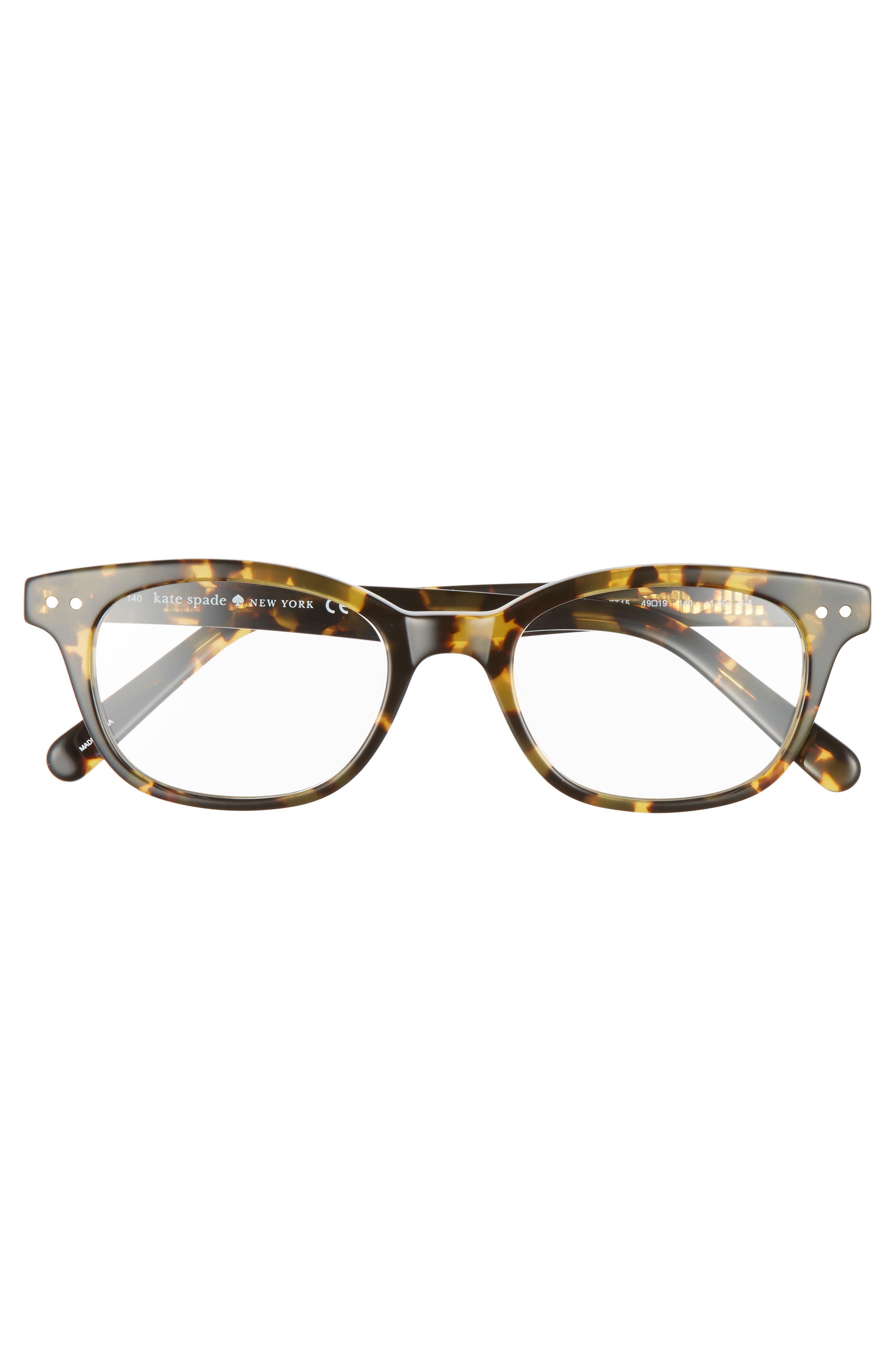 KATE SPADE NEW YORK,                             rebecca 49mm reading glasses,                             Alternate thumbnail 3, color,                             TOKYO TORTOISE