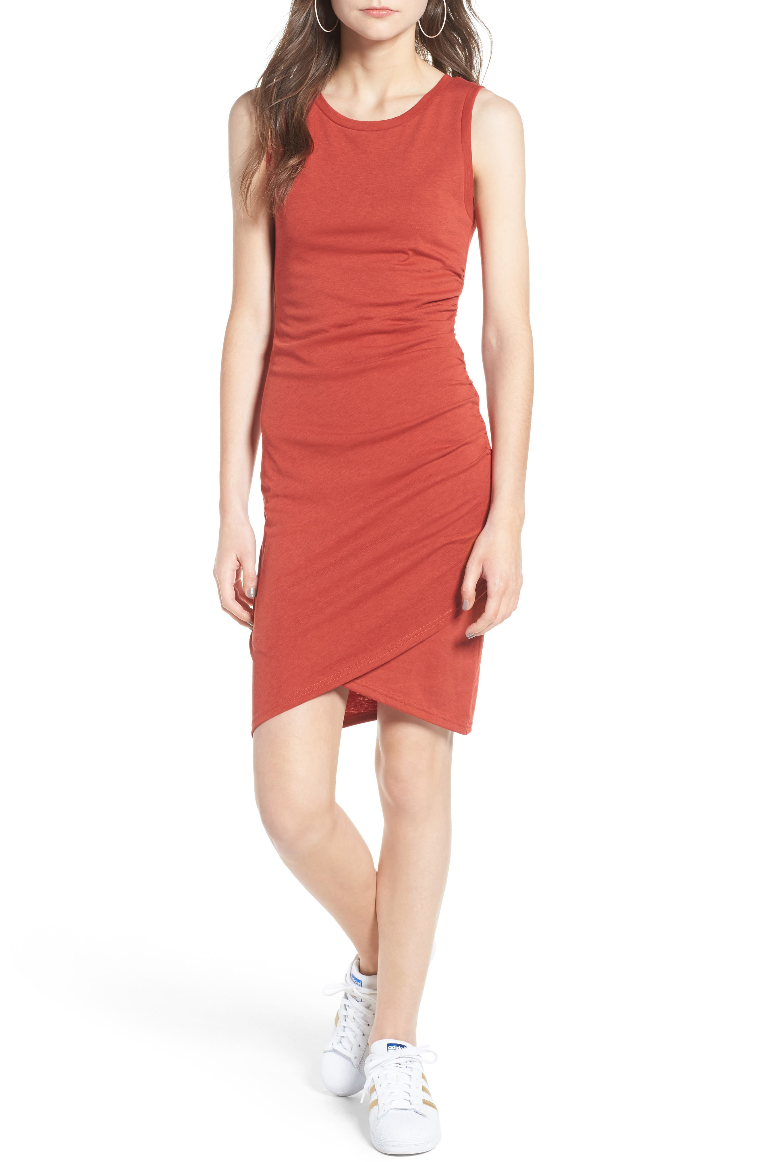 Ruched Body-Con Tank Dress,                             Main thumbnail 32, color,