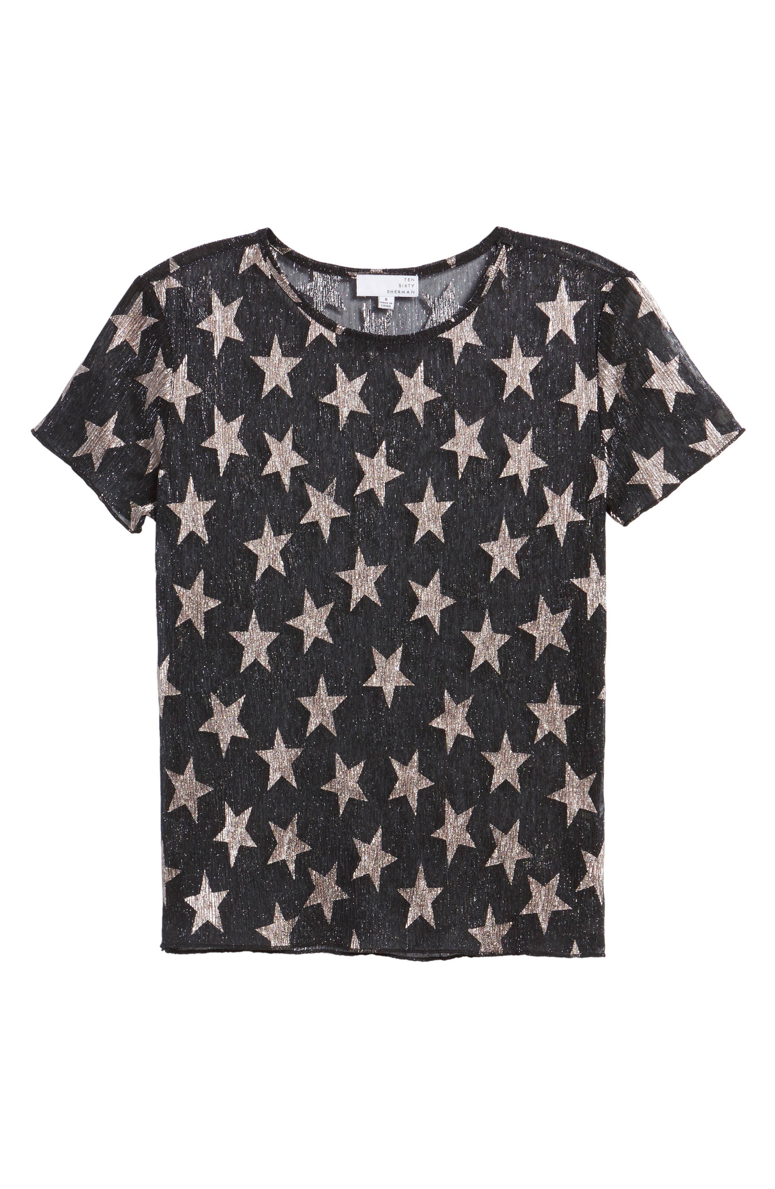 Metallic Star Tee,                             Alternate thumbnail 6, color,                             001