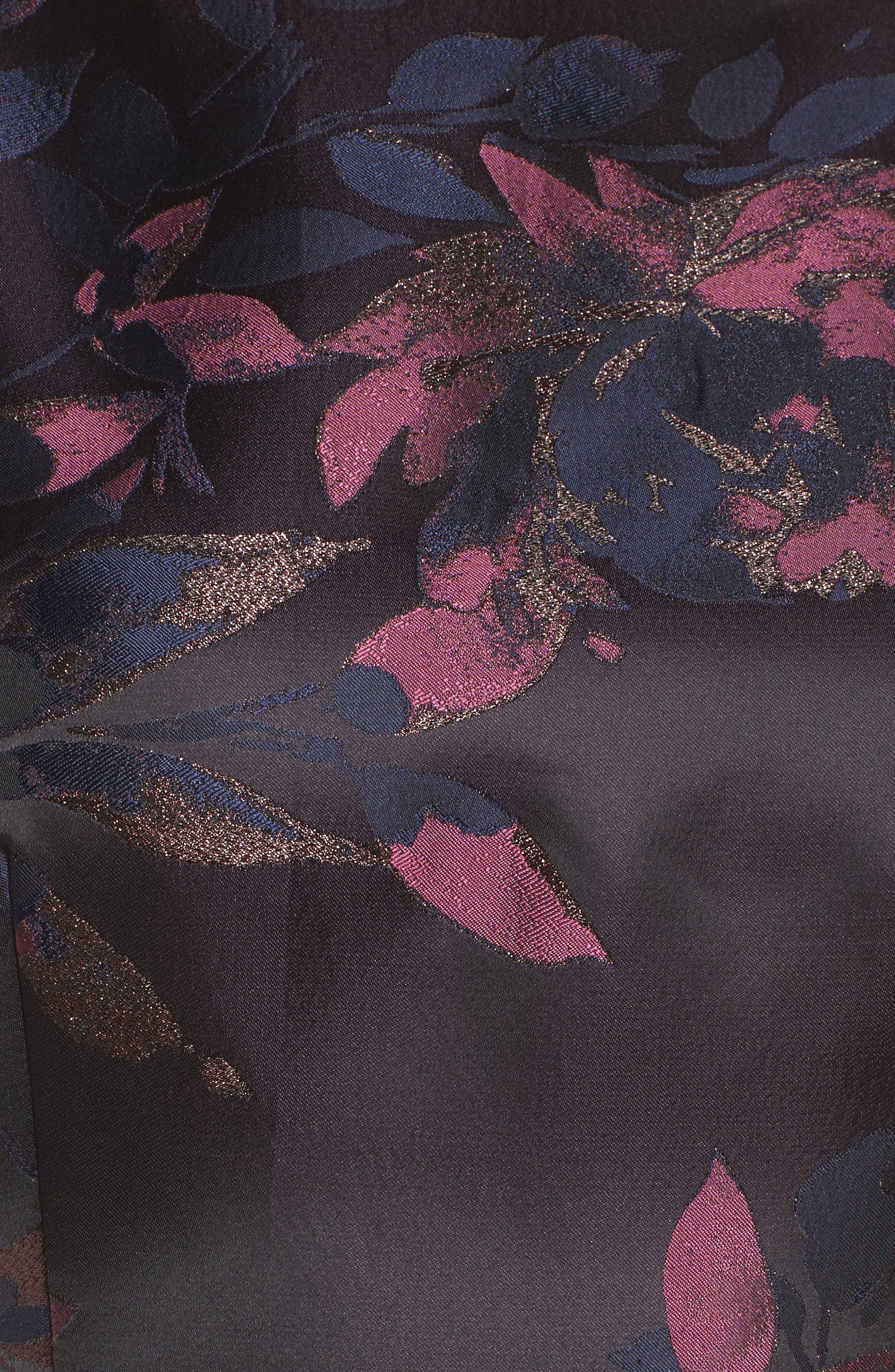 Brocade Fit & Flare Dress,                             Alternate thumbnail 6, color,                             410