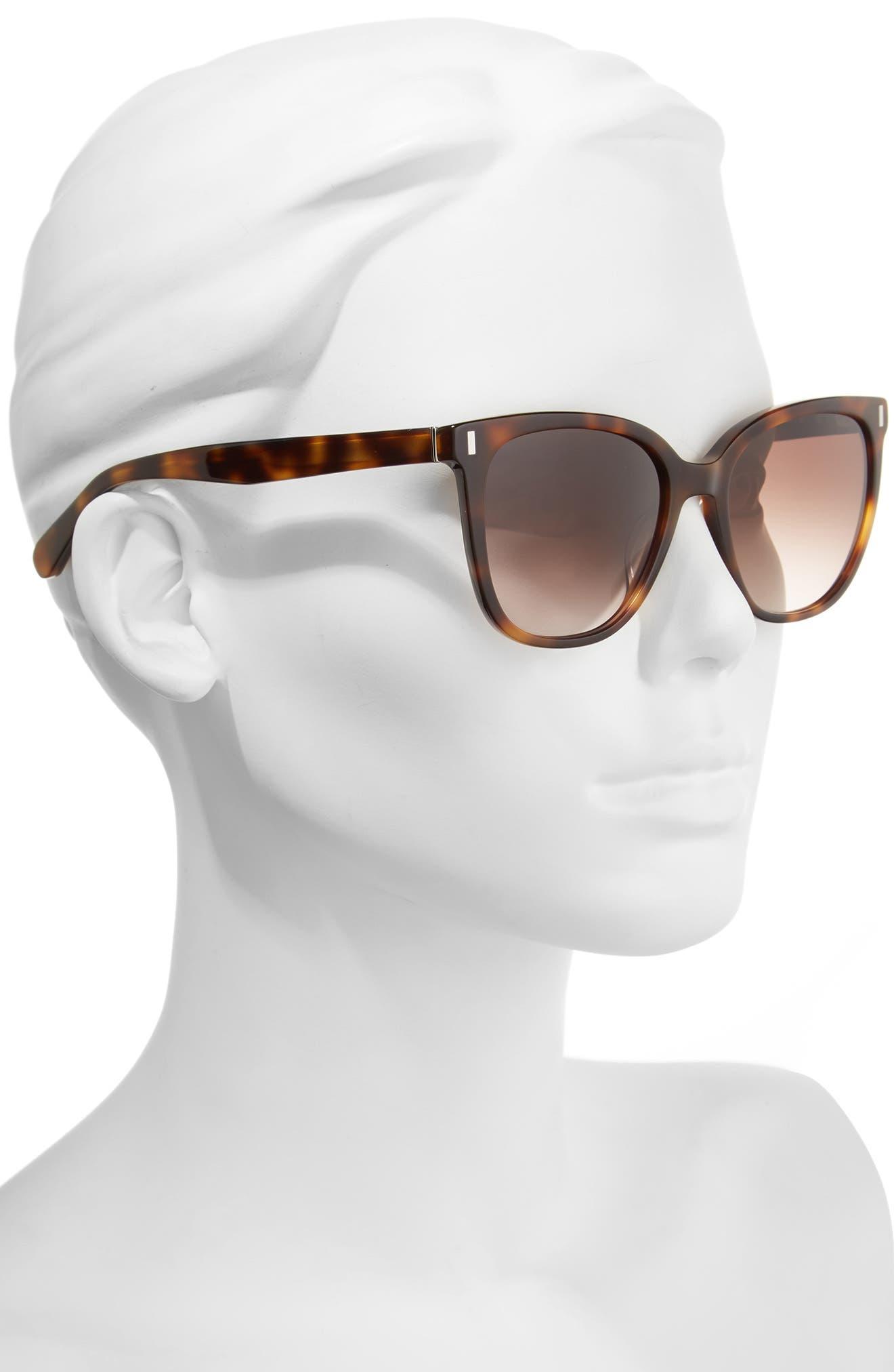 The Annabel 53mm Cat Eye Sunglasses,                             Alternate thumbnail 6, color,