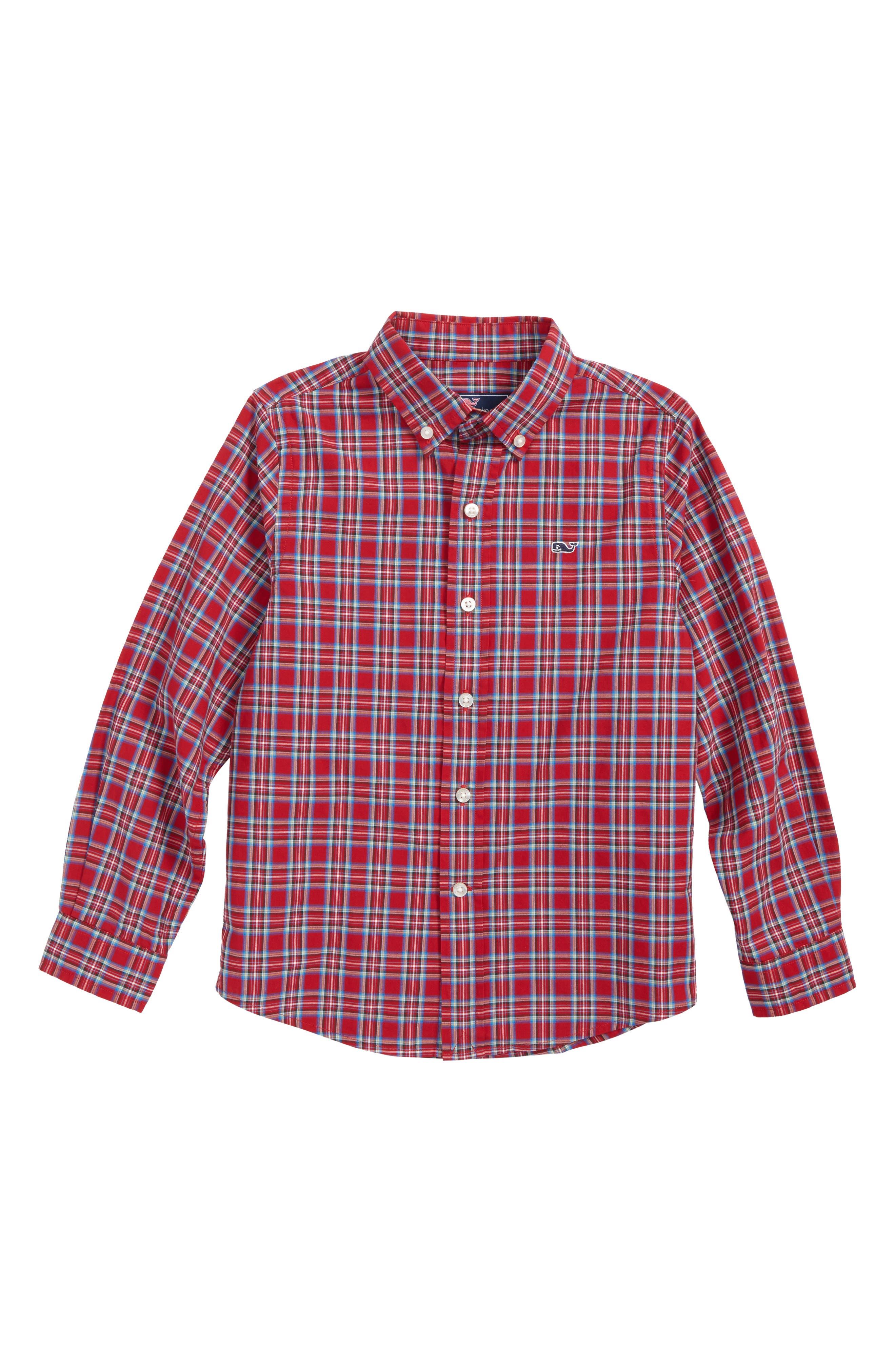 Riverton Plaid Whale Shirt,                         Main,                         color, 600