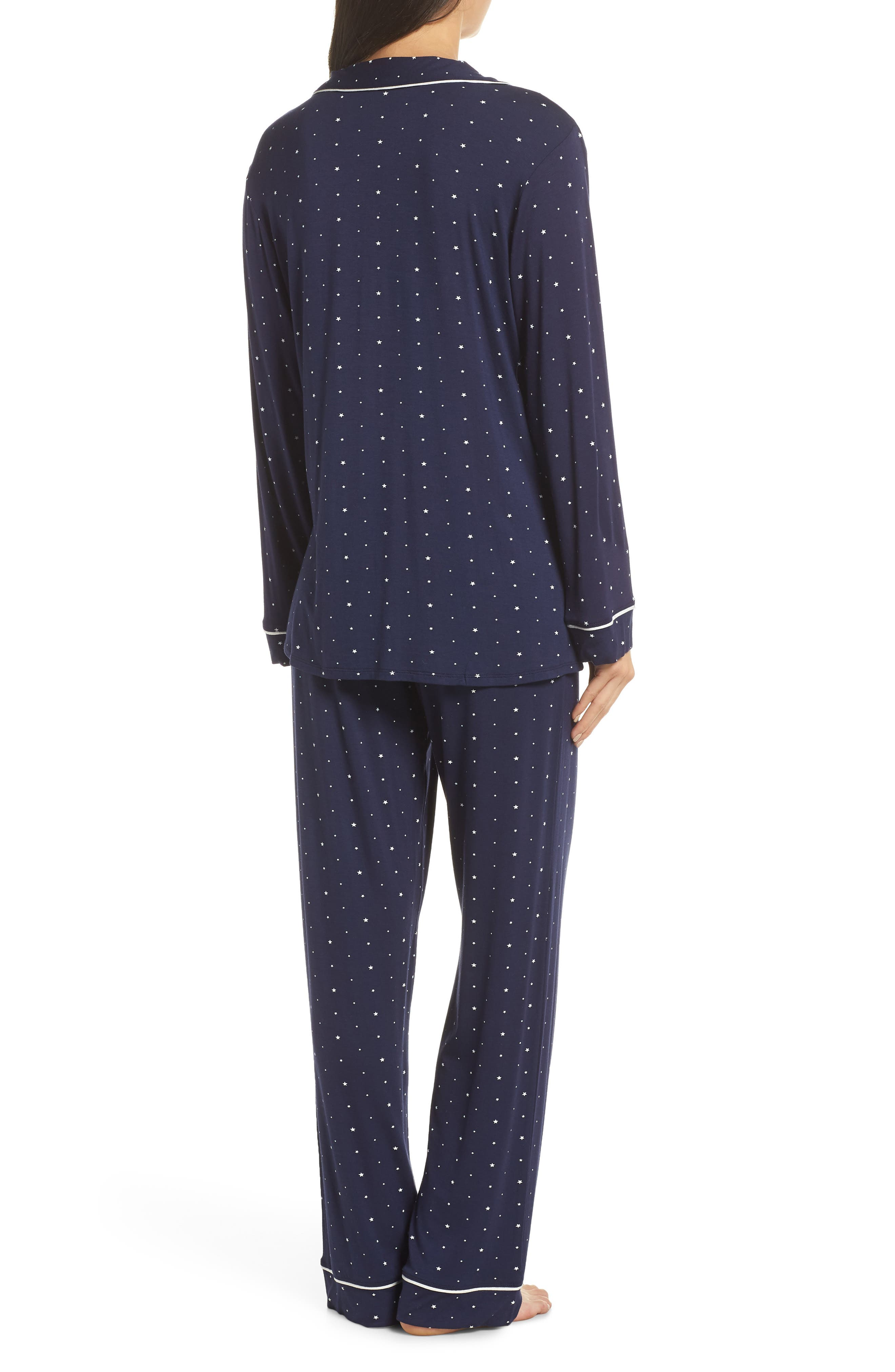 Sleep Chic Pajamas,                             Alternate thumbnail 2, color,                             NORTHER STARS/ IVORY
