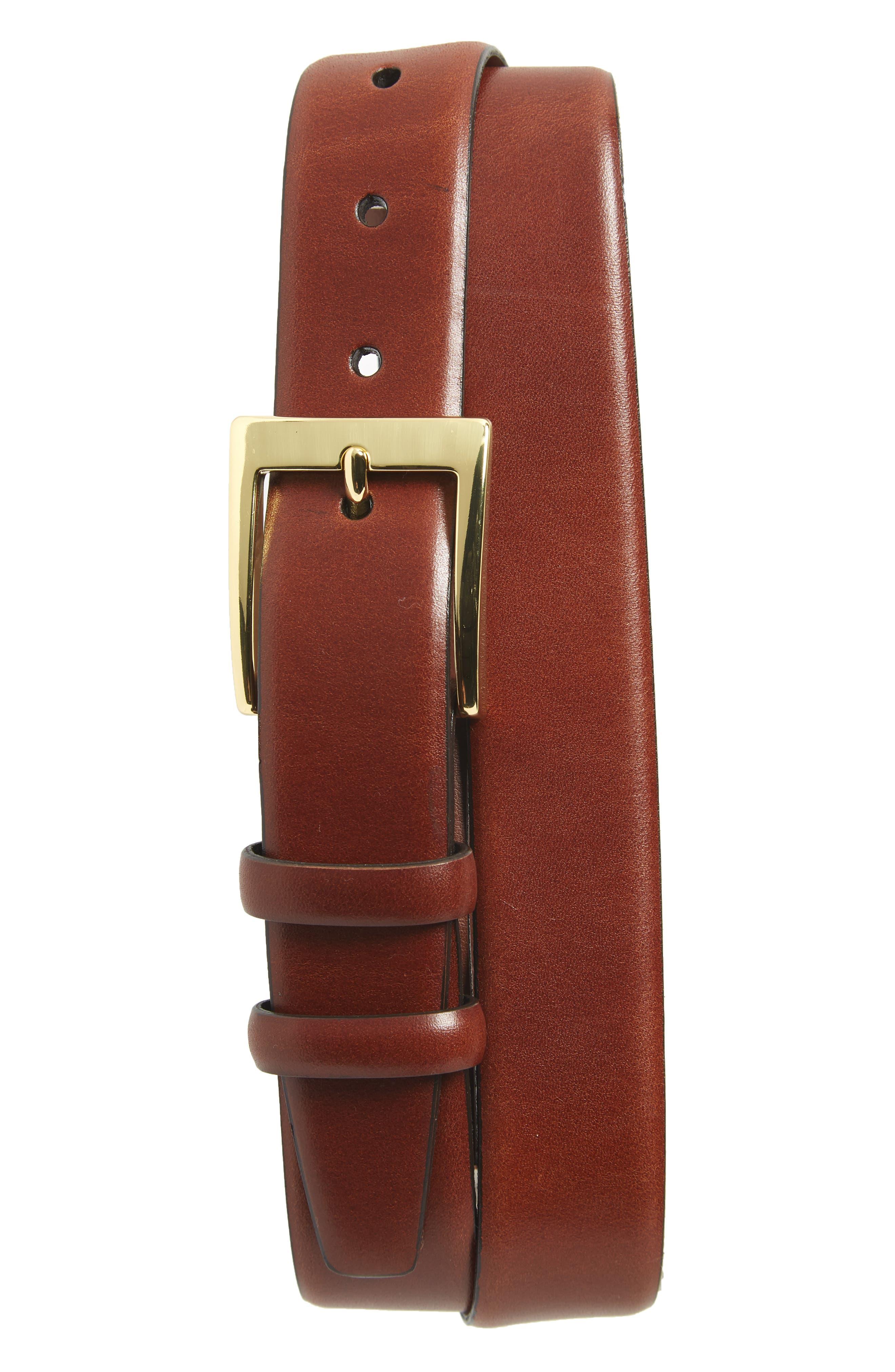 Torino Belts Double Buckle Leather Belt, Chili