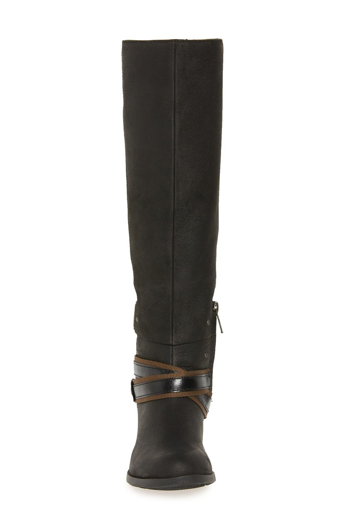 Lolla Water Resistant Tall Boot,                             Alternate thumbnail 3, color,                             010
