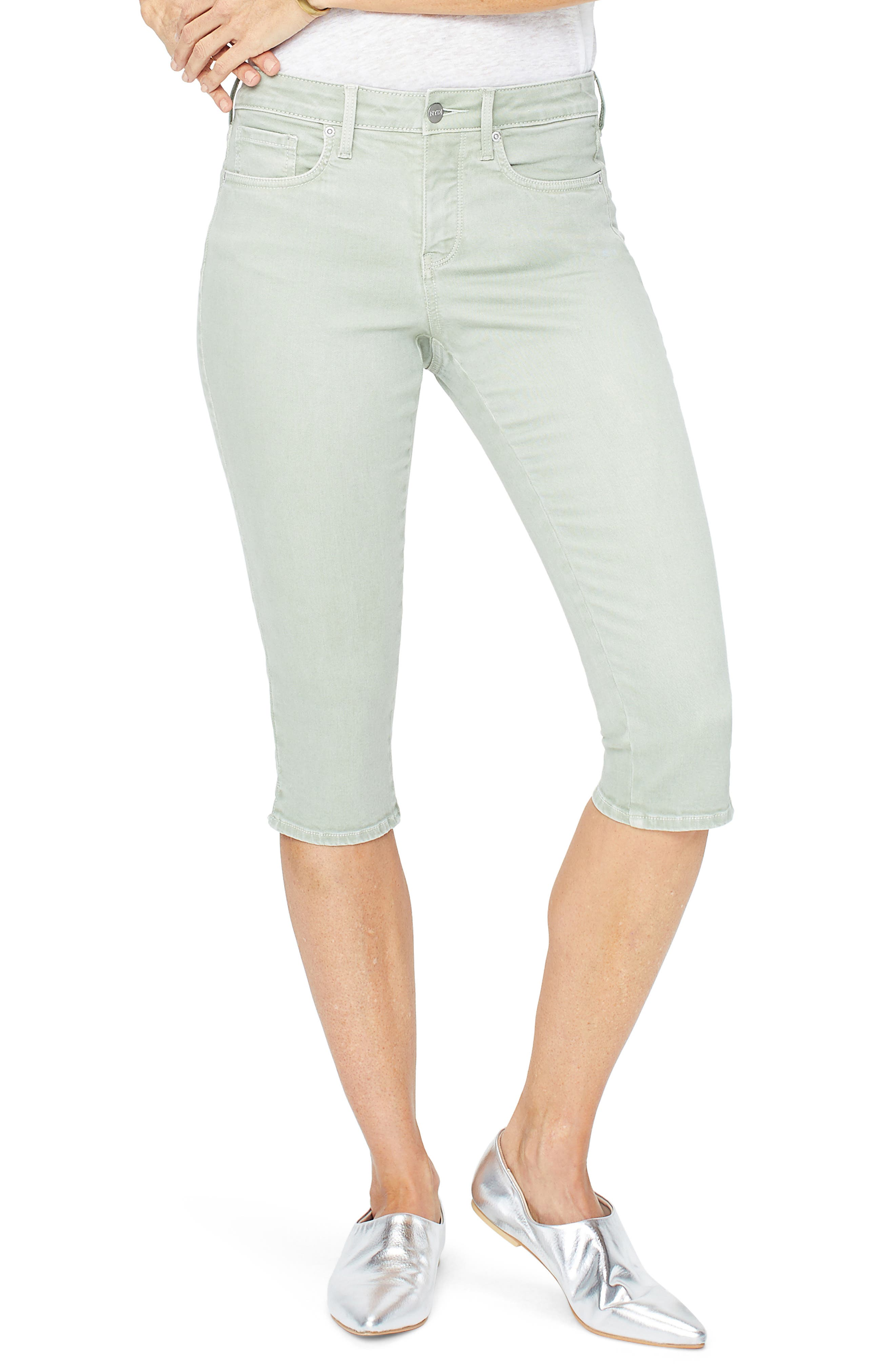 Nydj Capri Skinny Jeans, Green