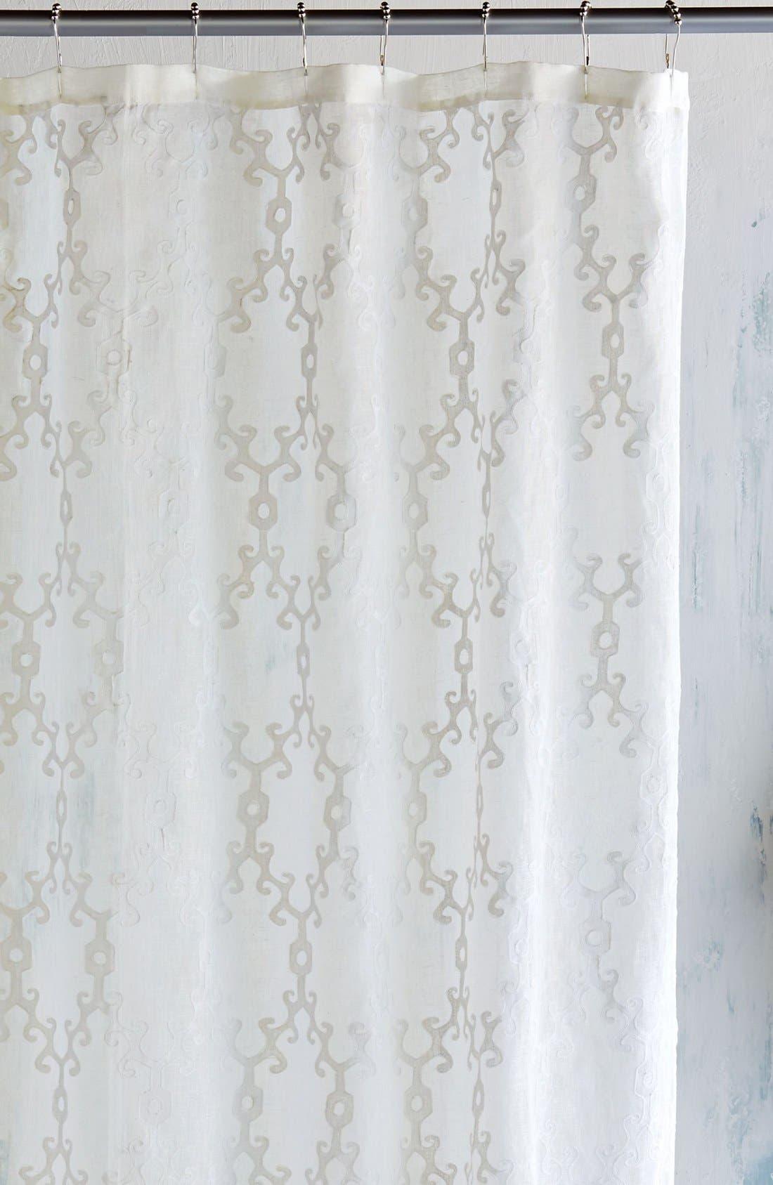 'Totem' Shower Curtain,                             Main thumbnail 1, color,                             100