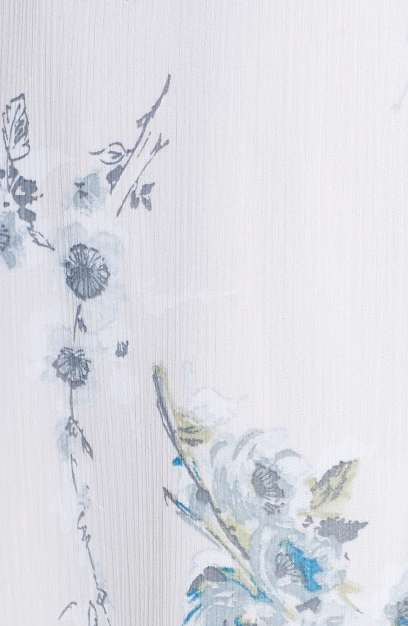 The Natasha Floral Wrap Maxi Dress,                             Alternate thumbnail 5, color,                             BLUE GARDEN FLORAL
