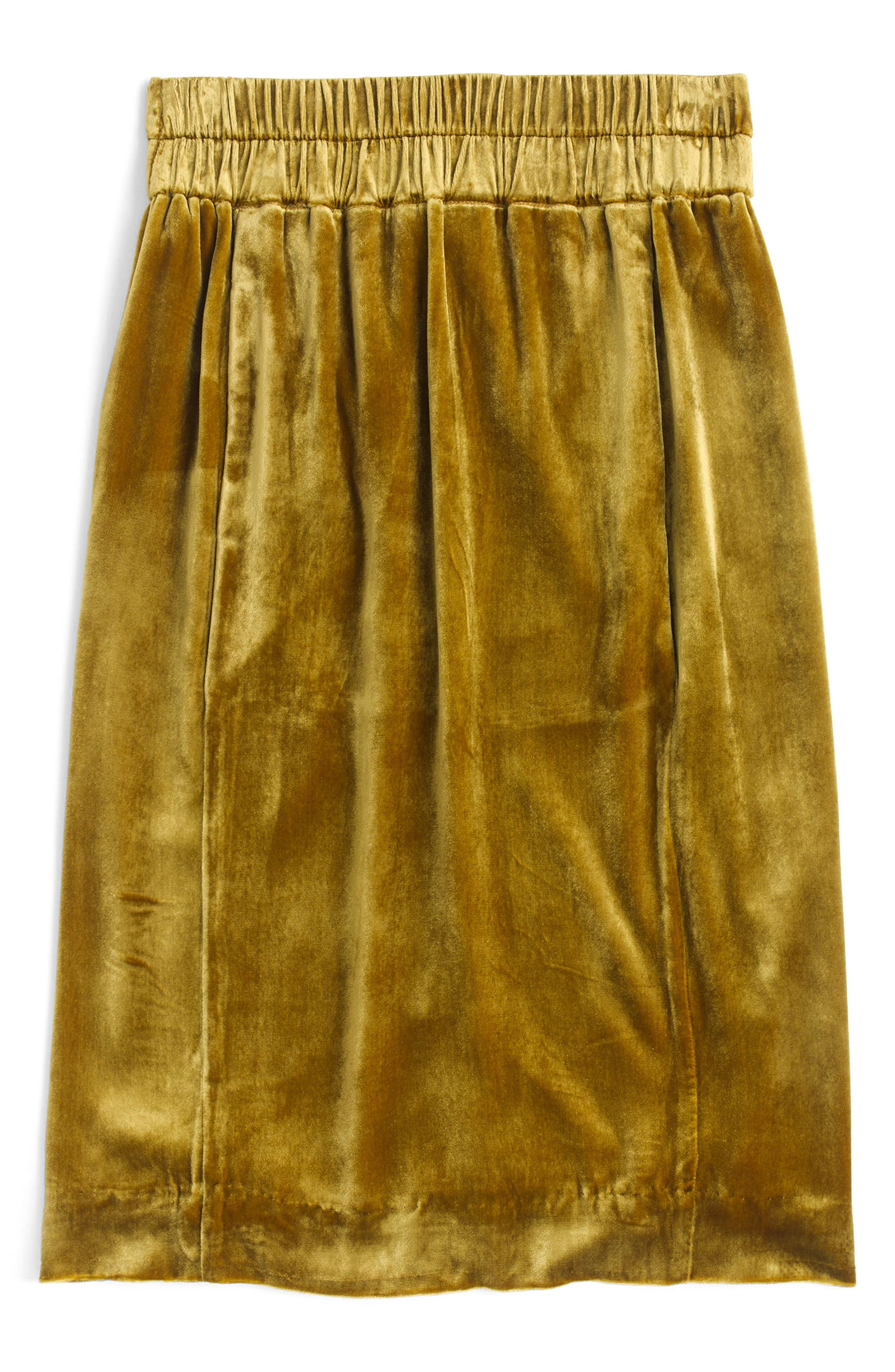 Pull-On Velvet Skirt,                             Alternate thumbnail 5, color,