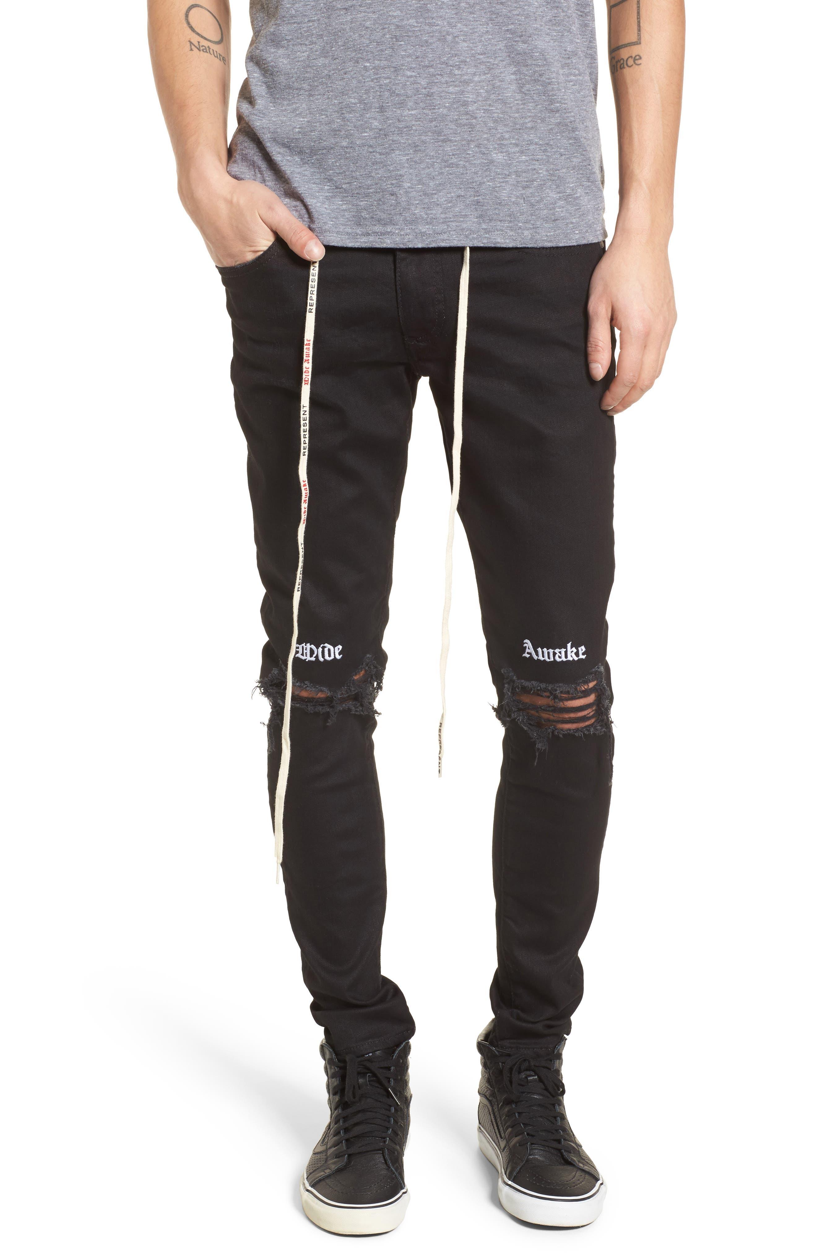 Destroyer Slim Fit Jeans,                             Main thumbnail 1, color,                             001