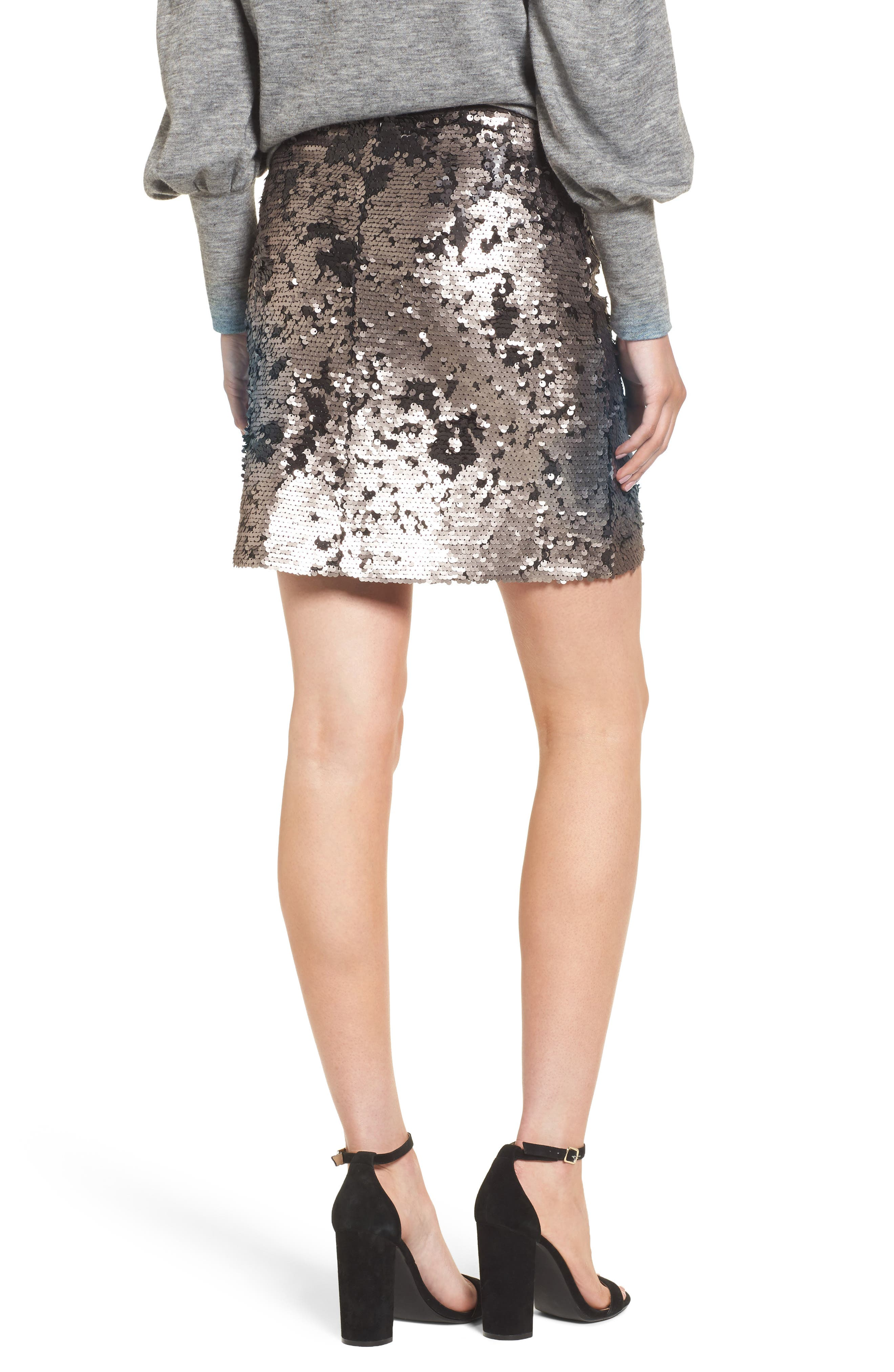 Sequin Miniskirt,                             Alternate thumbnail 4, color,