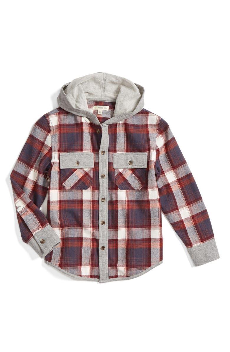 b440063a7 Tucker + Tate Hooded Flannel Shirt (Toddler Boys & Little Boys ...