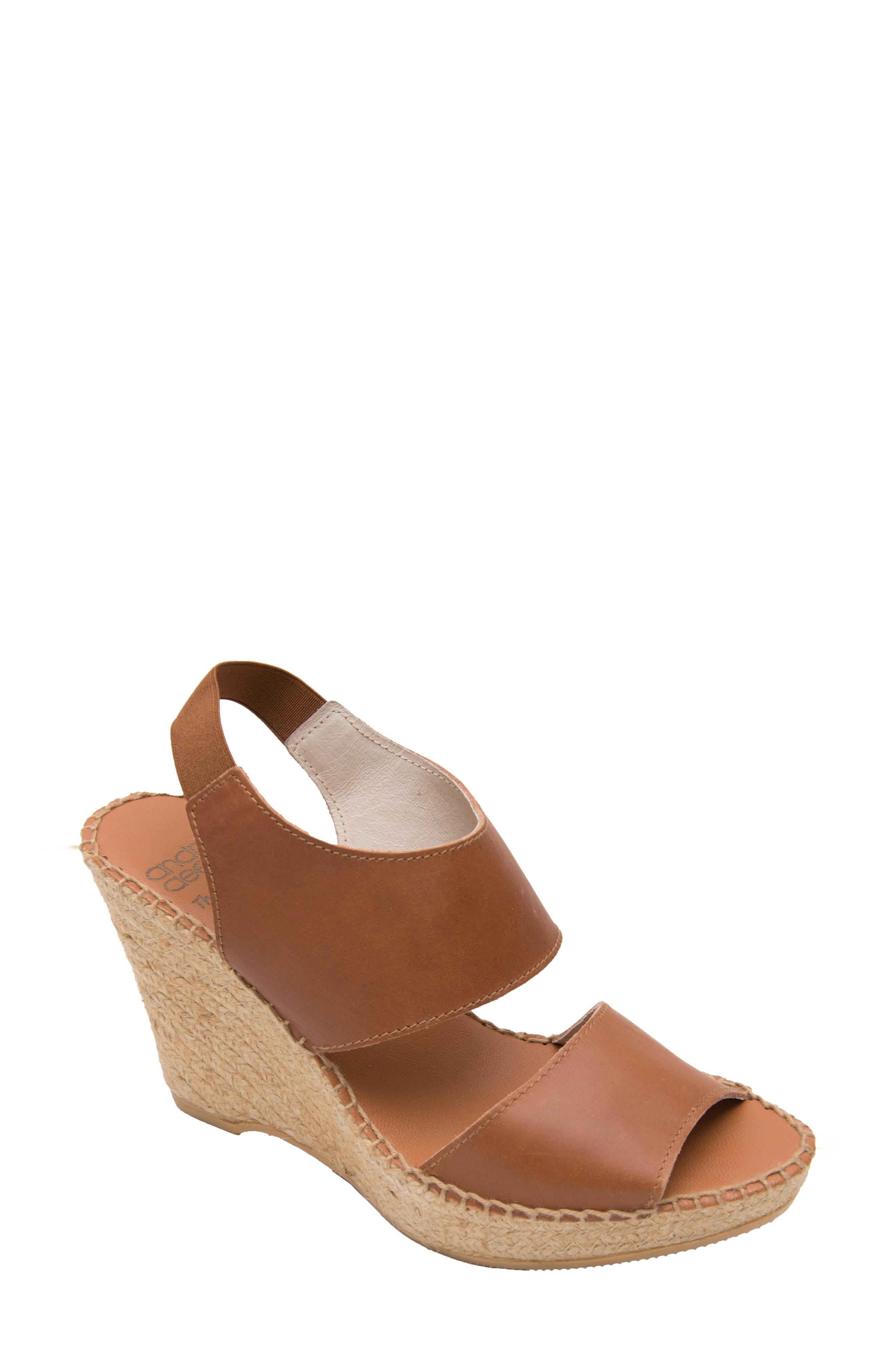 ANDRE ASSOUS 'Reese Hi' Sandal in Cuero Leather