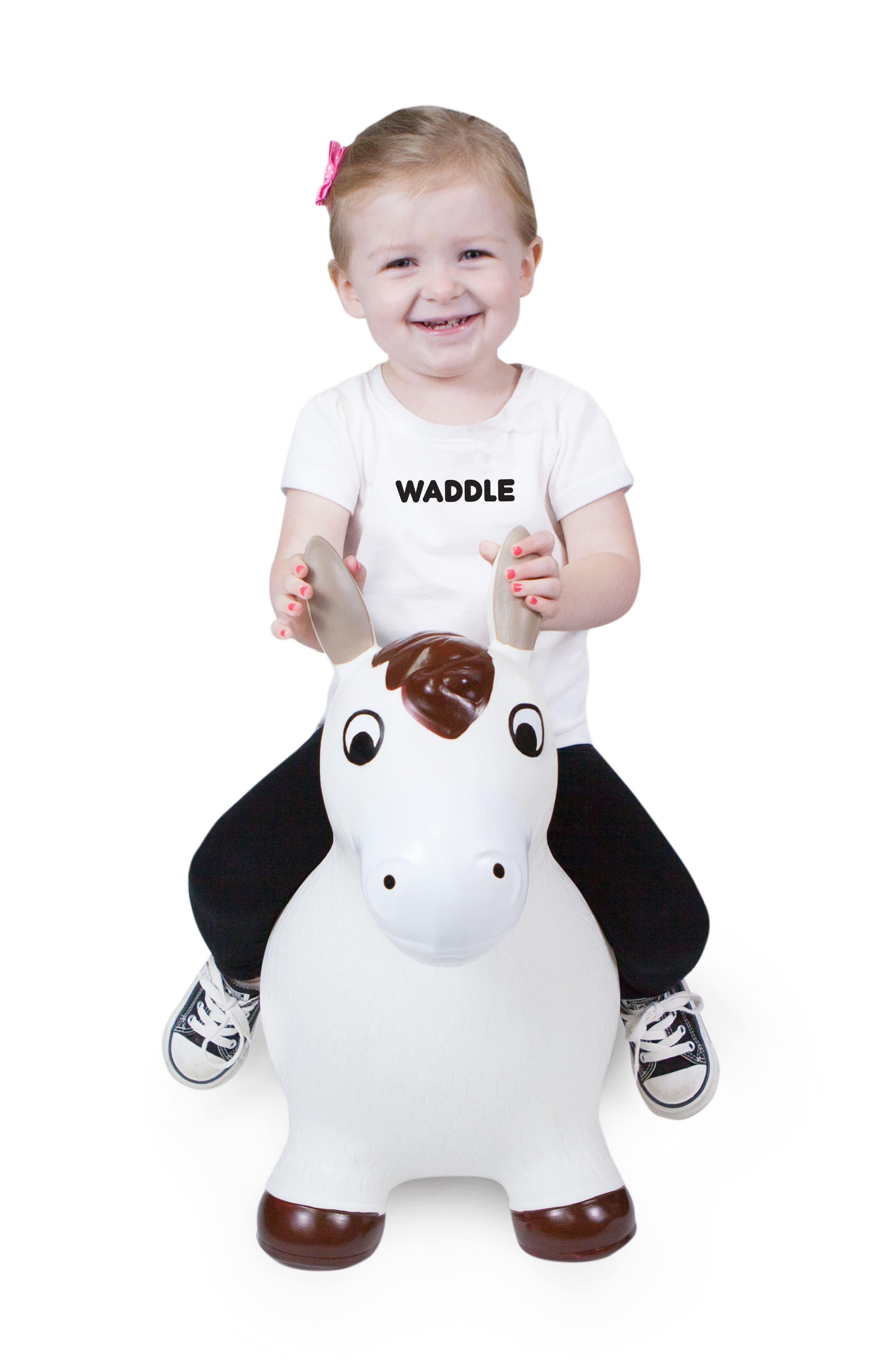 Lucky Bouncy Ride-On Horse Toy,                             Alternate thumbnail 3, color,                             WHITE/ BROWN