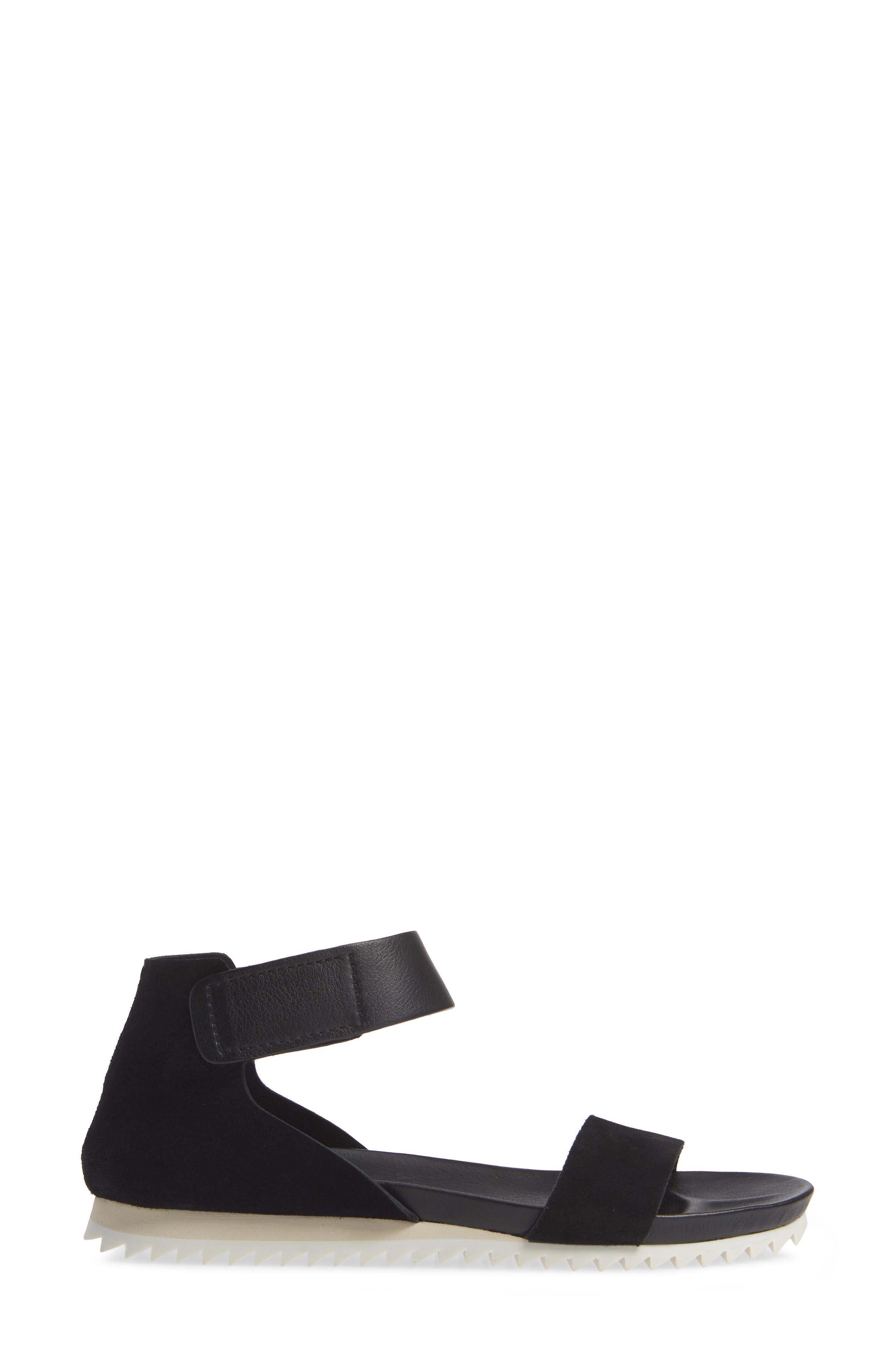 Jenile Ankle Cuff Sandal,                             Alternate thumbnail 3, color,                             BLACK CASTORO
