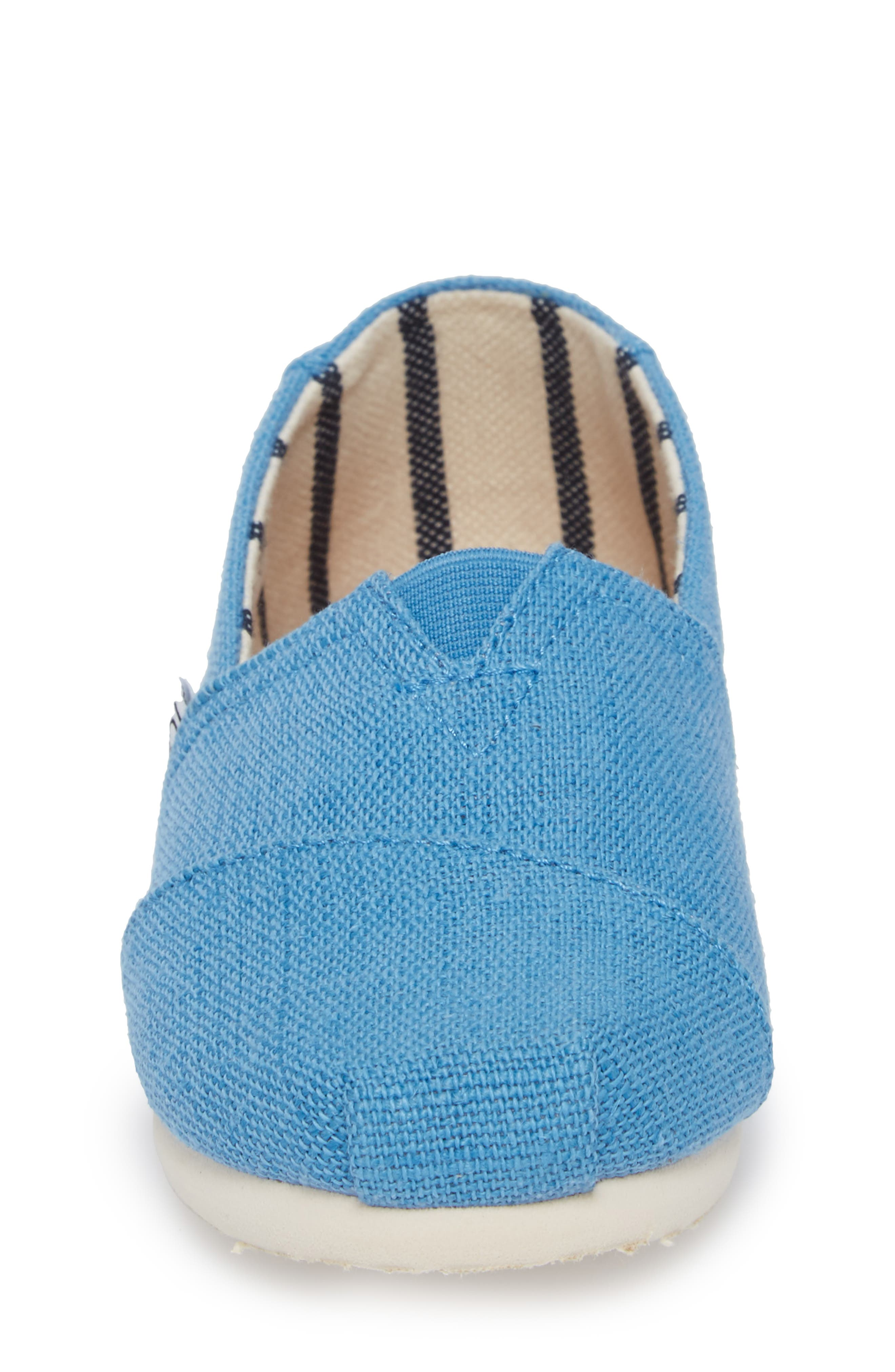 Classic Print Slip-On,                             Alternate thumbnail 4, color,                             CLEAR SKY HERITAGE CANVAS