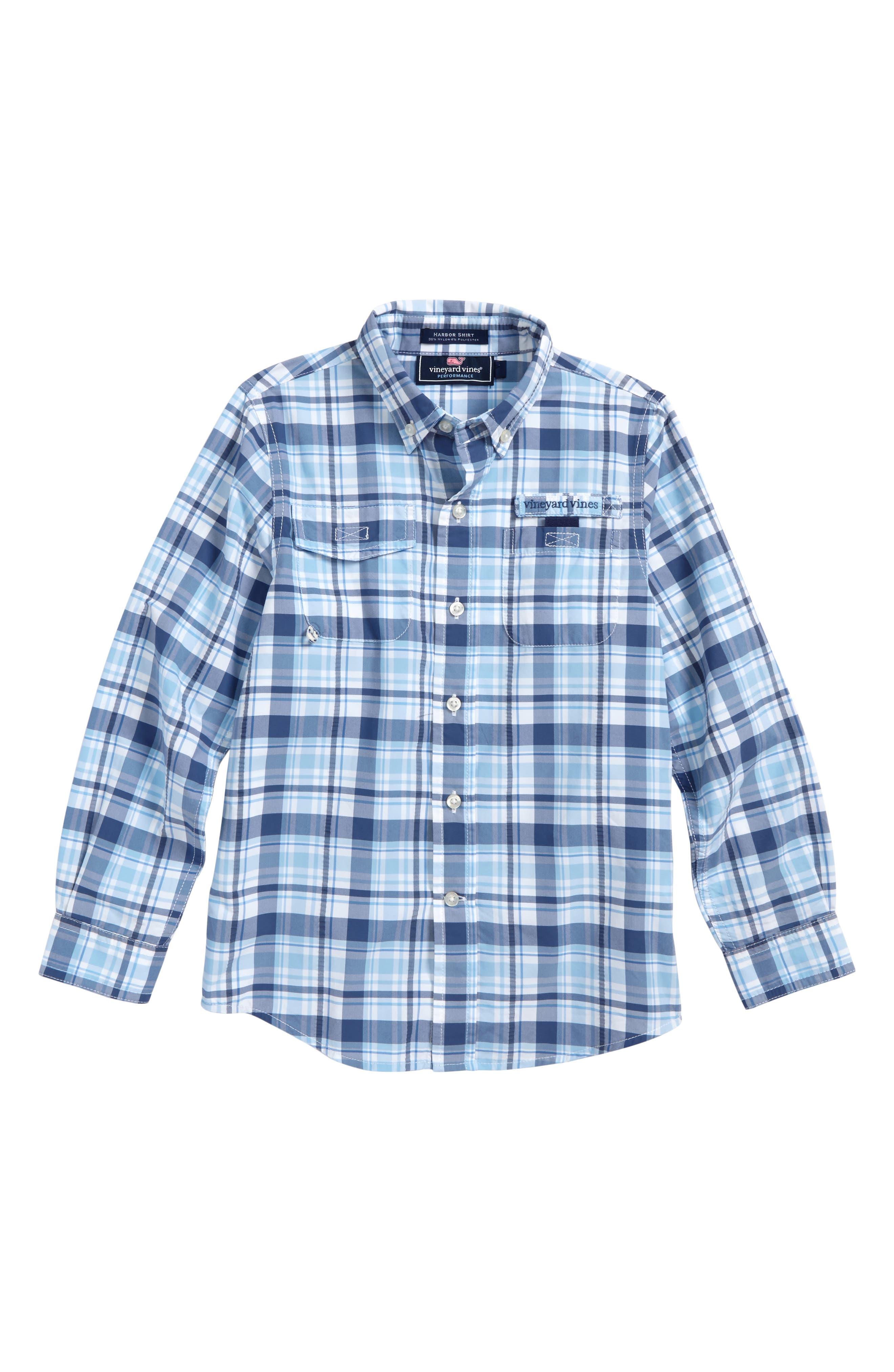 Harbor Plaid Shirt,                         Main,                         color, 463