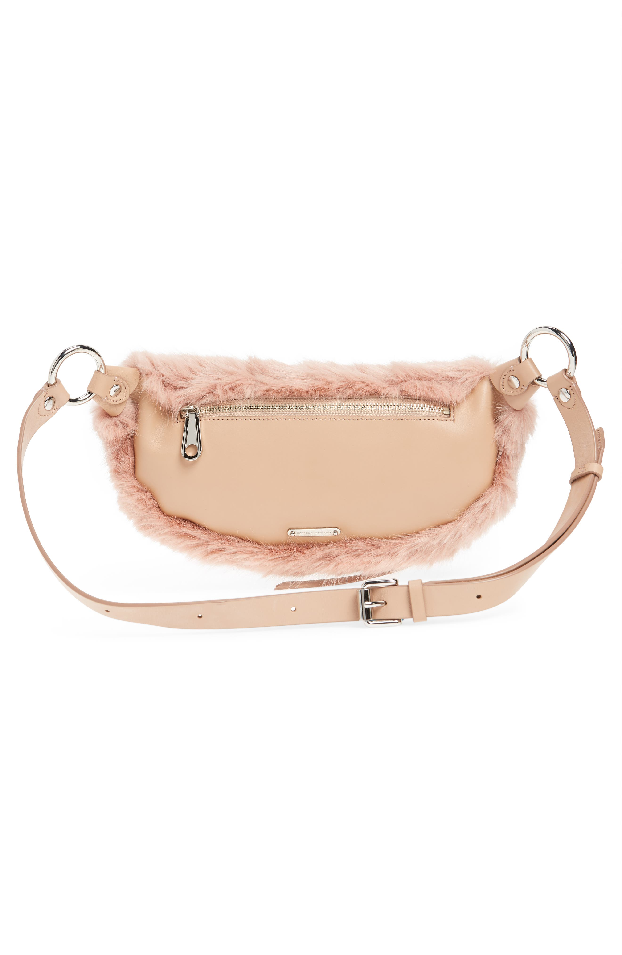 REBECCA MINKOFF,                             Faux Fur Belt Bag,                             Alternate thumbnail 4, color,                             250