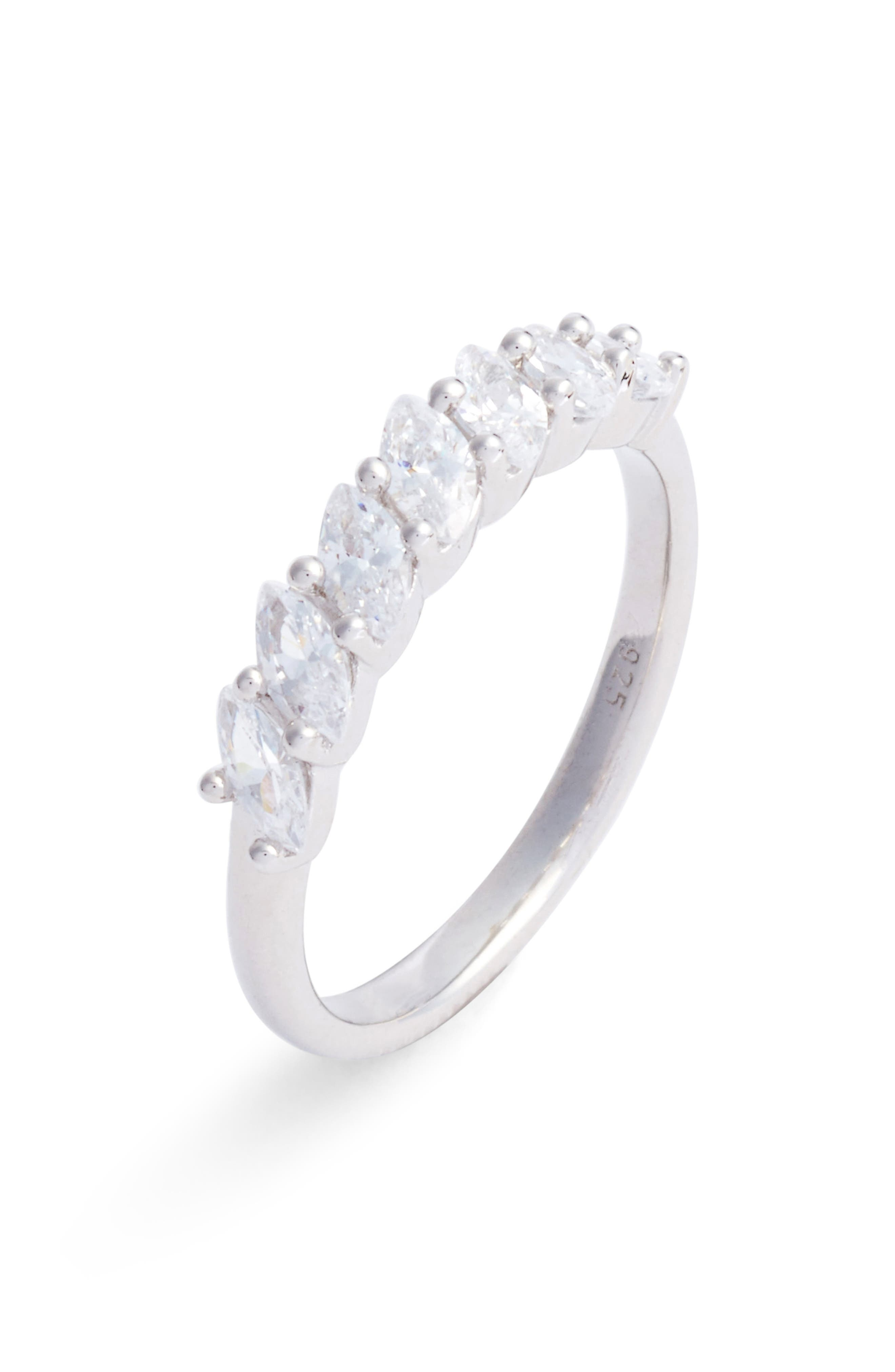 Marquise Cubic Zirconia Ring,                         Main,                         color,