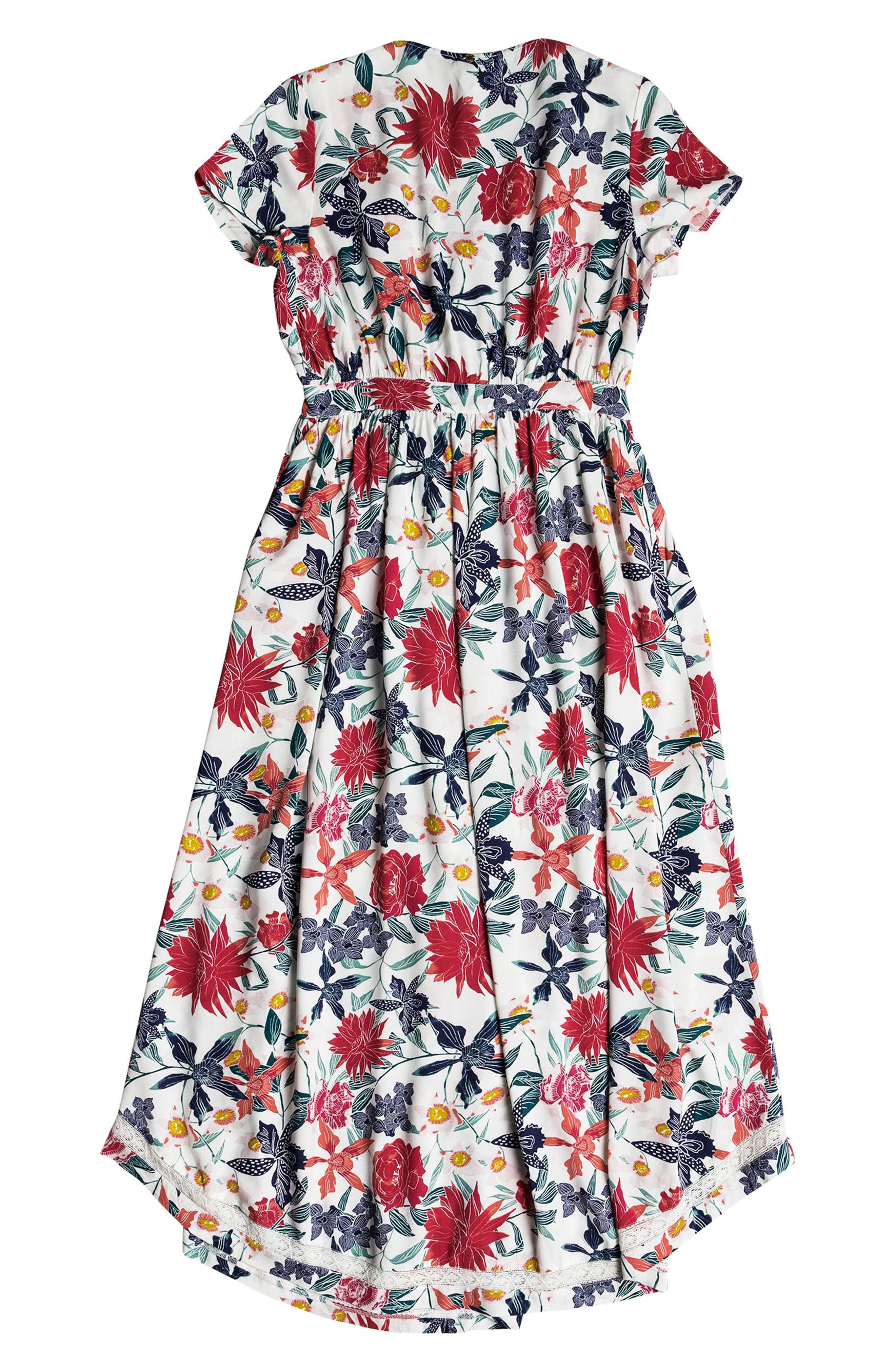 District Nights Floral Print Dress,                             Alternate thumbnail 9, color,                             MARSHMALLOW TALLOWS
