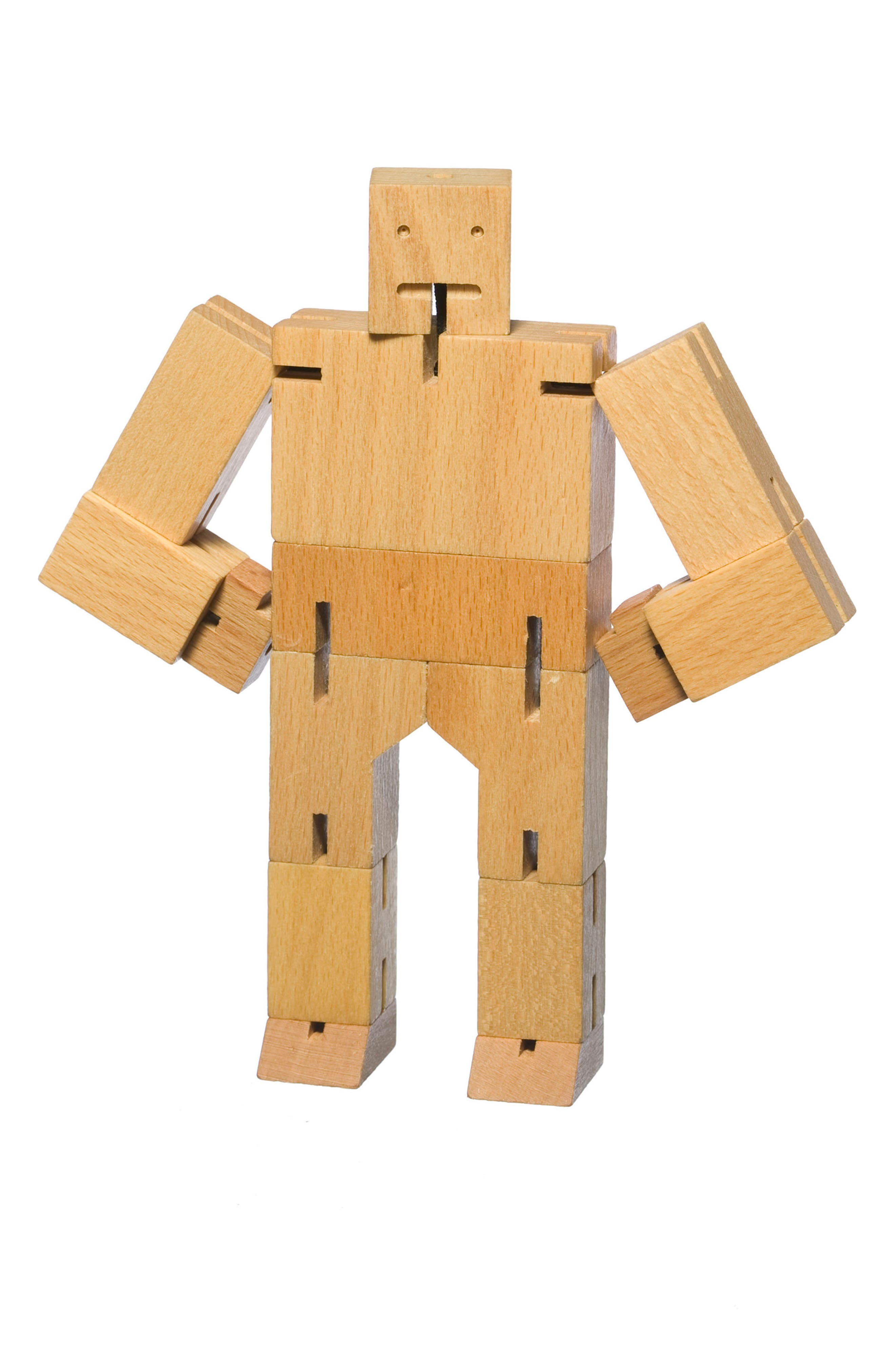 Cubebot Small Wooden Robot Toy,                             Alternate thumbnail 2, color,                             200