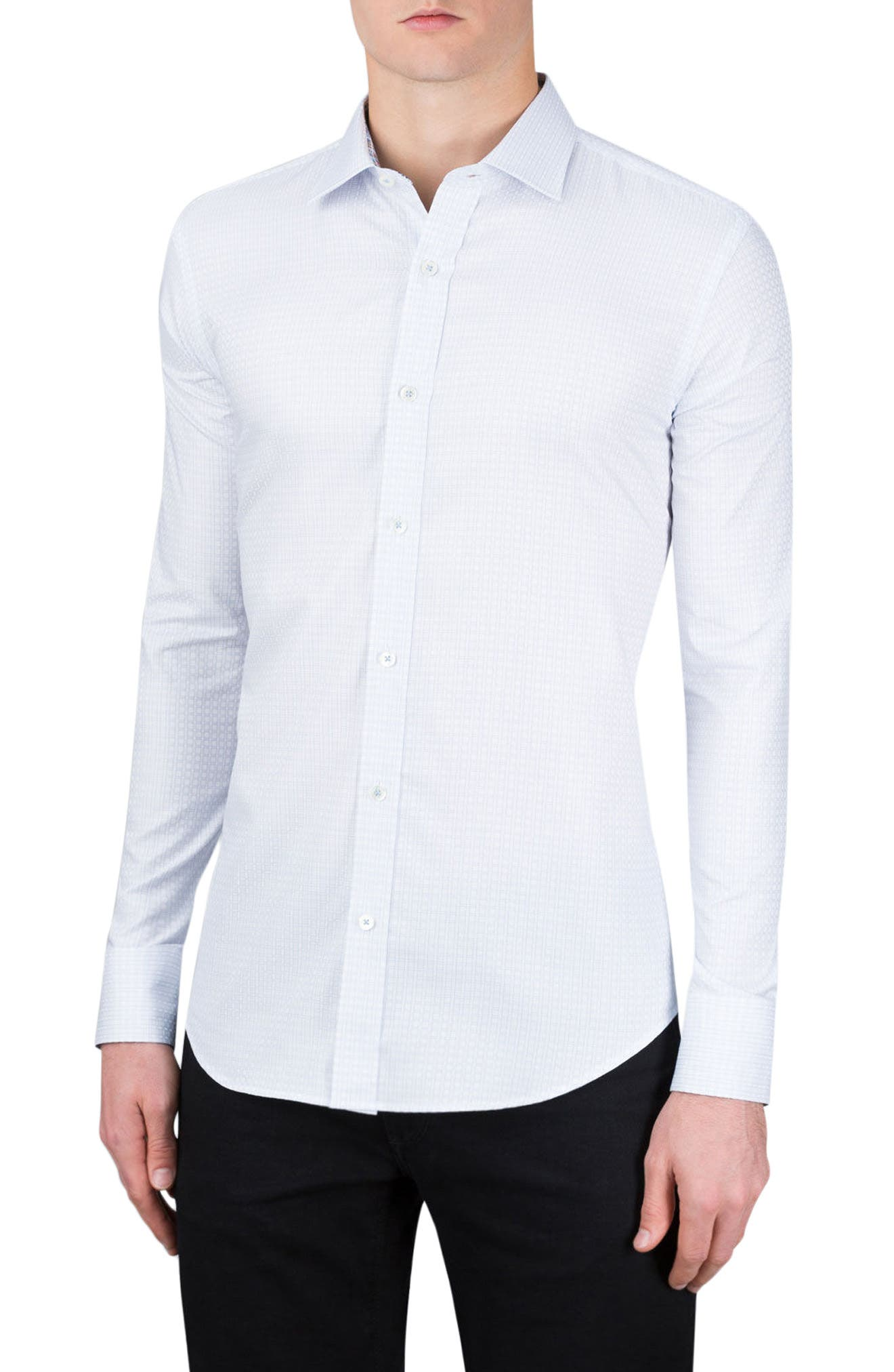 Shaped Fit Sport Shirt,                         Main,                         color, 459
