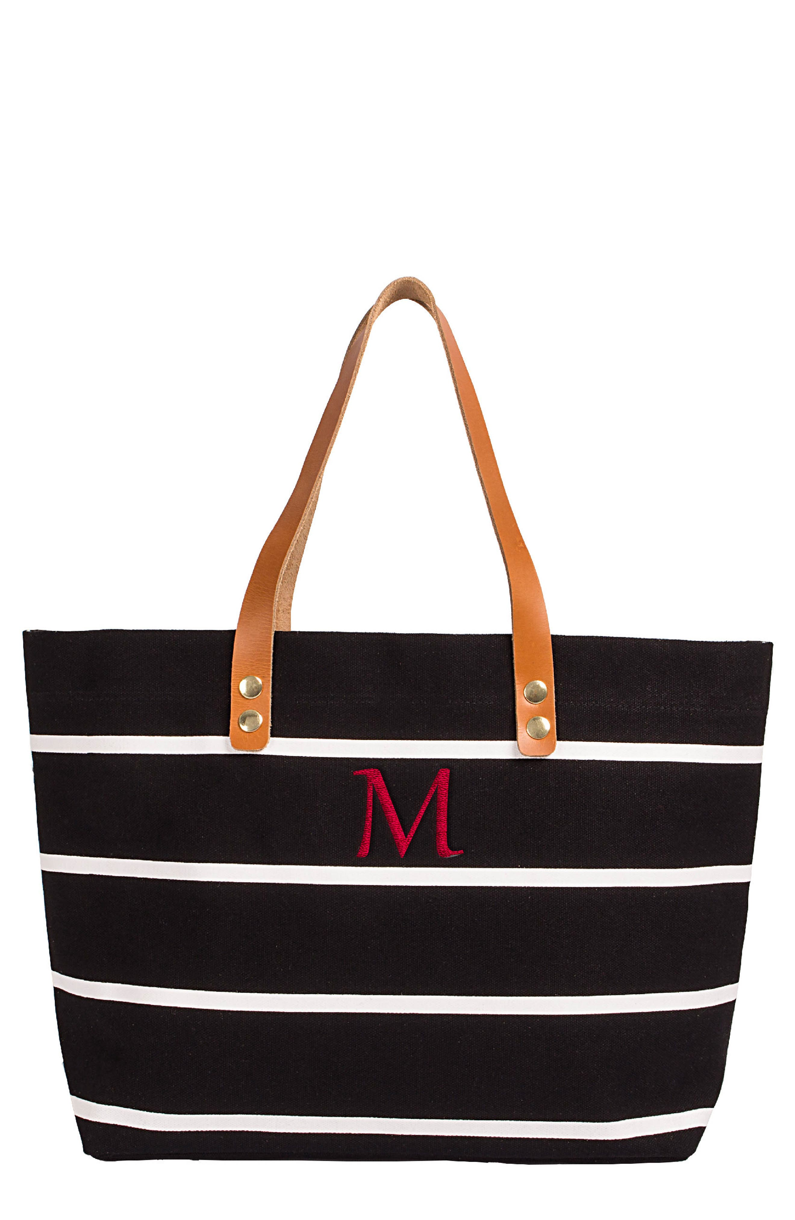 Monogram Stripe Tote,                             Main thumbnail 14, color,