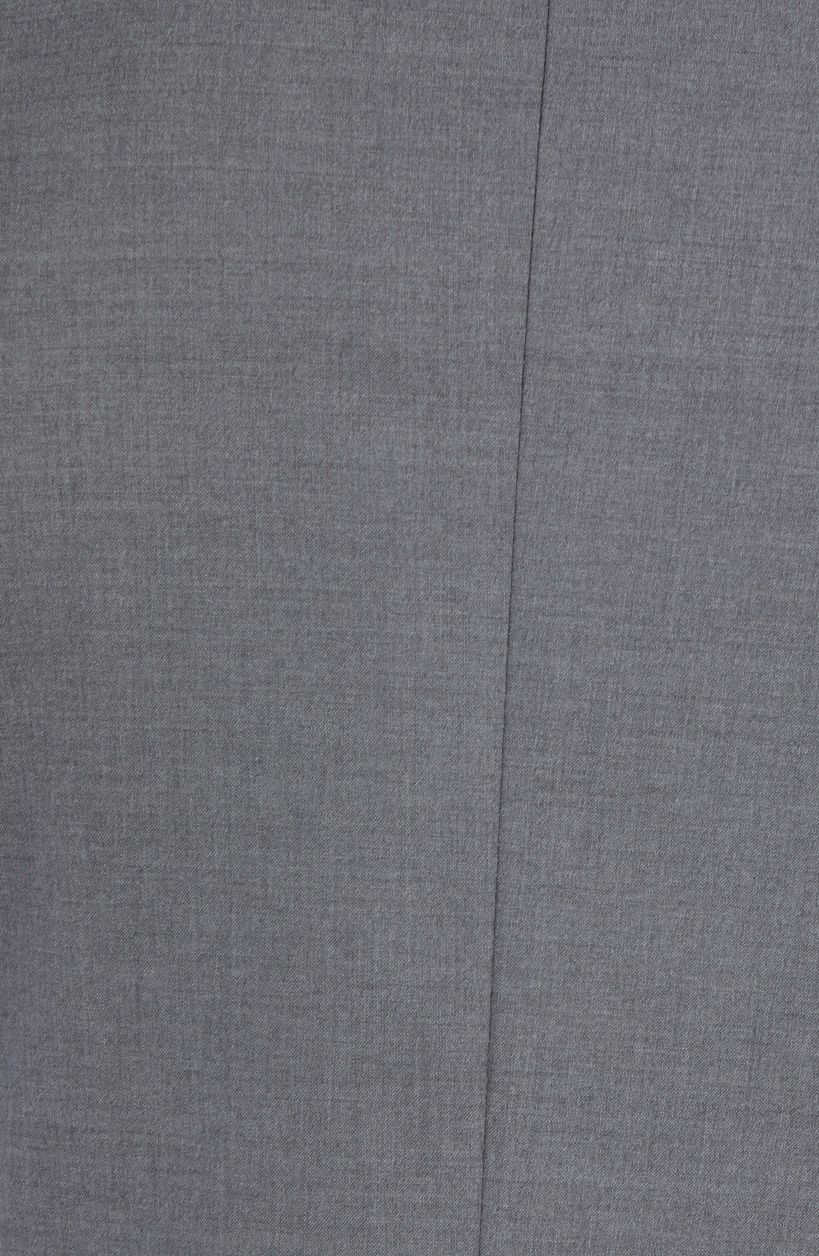 NORDSTROM MEN'S SHOP,                             Tech-Smart Trim Fit Stretch Wool Travel Sport Coat,                             Alternate thumbnail 5, color,                             GREY
