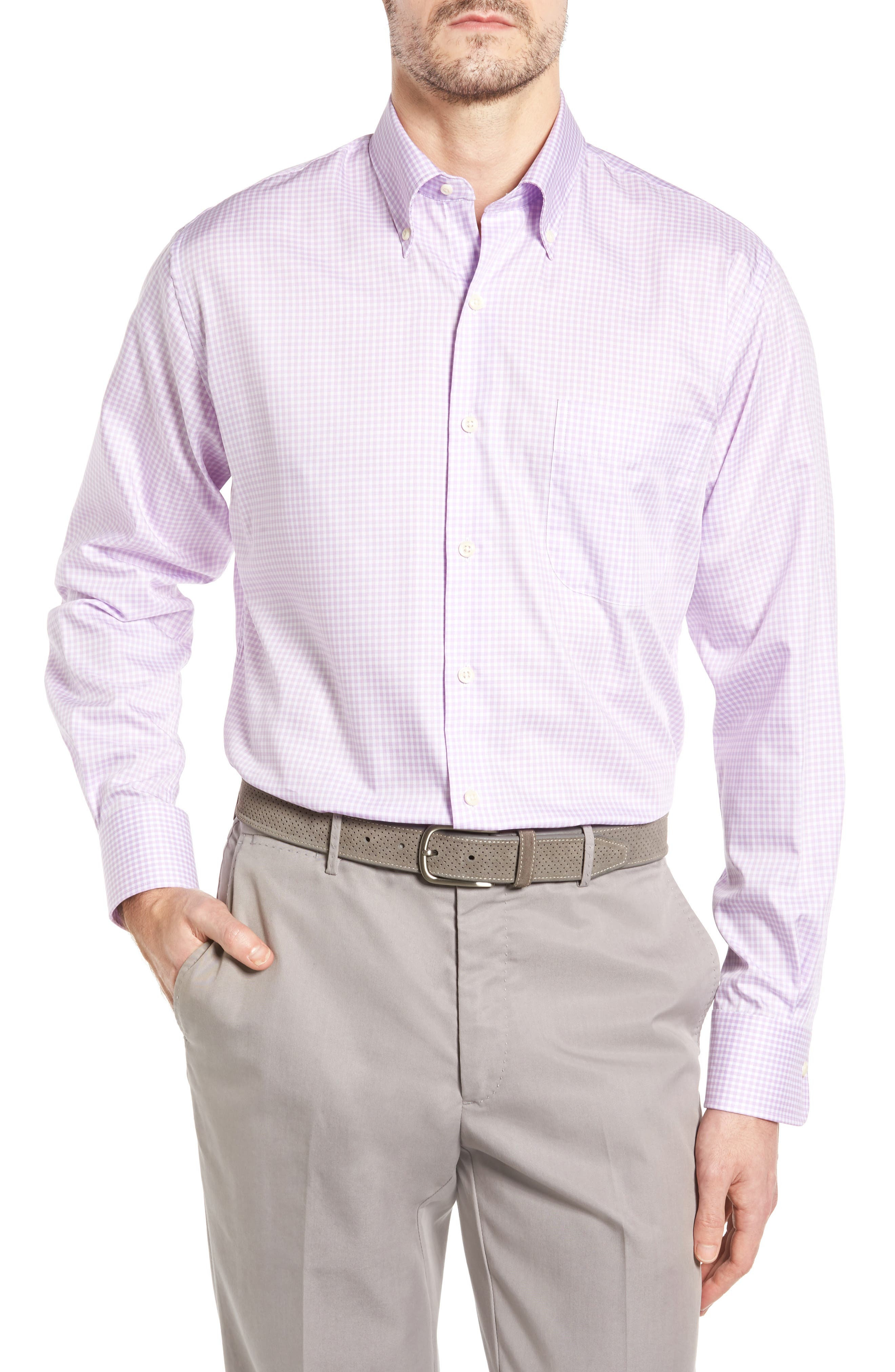 Crown Soft Gingham Regular Fit Sport Shirt,                             Main thumbnail 5, color,