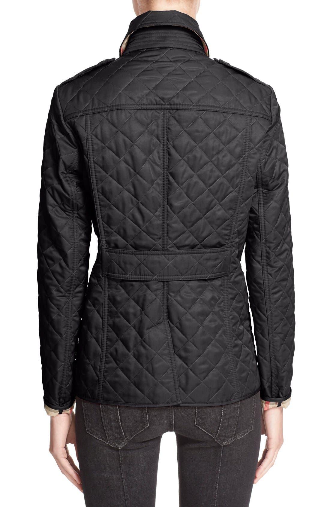 Ashurst Quilted Jacket,                             Alternate thumbnail 9, color,                             BLACK