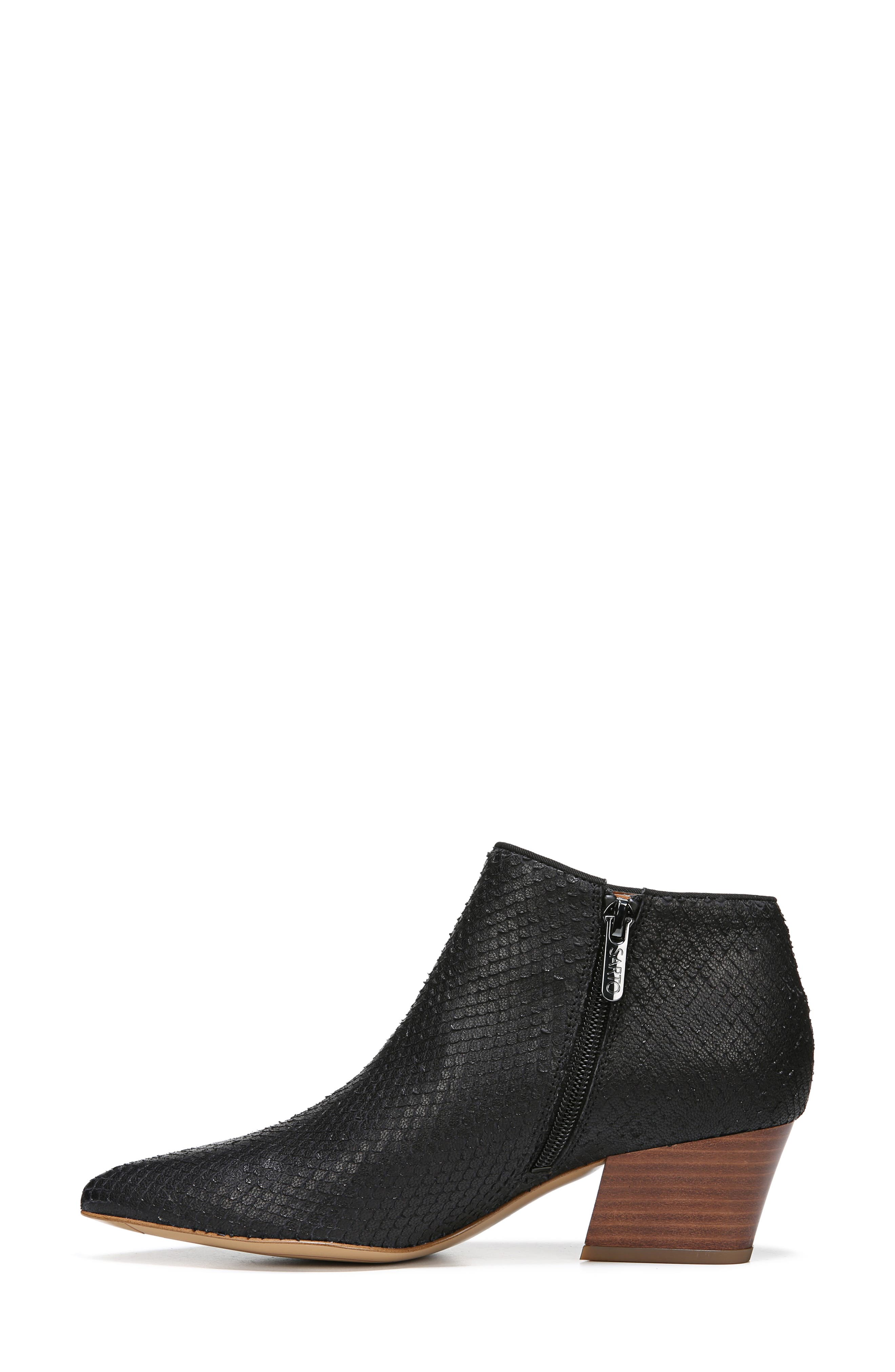 Lowe Bootie,                             Alternate thumbnail 7, color,                             BLACK SNAKE PRINT LEATHER
