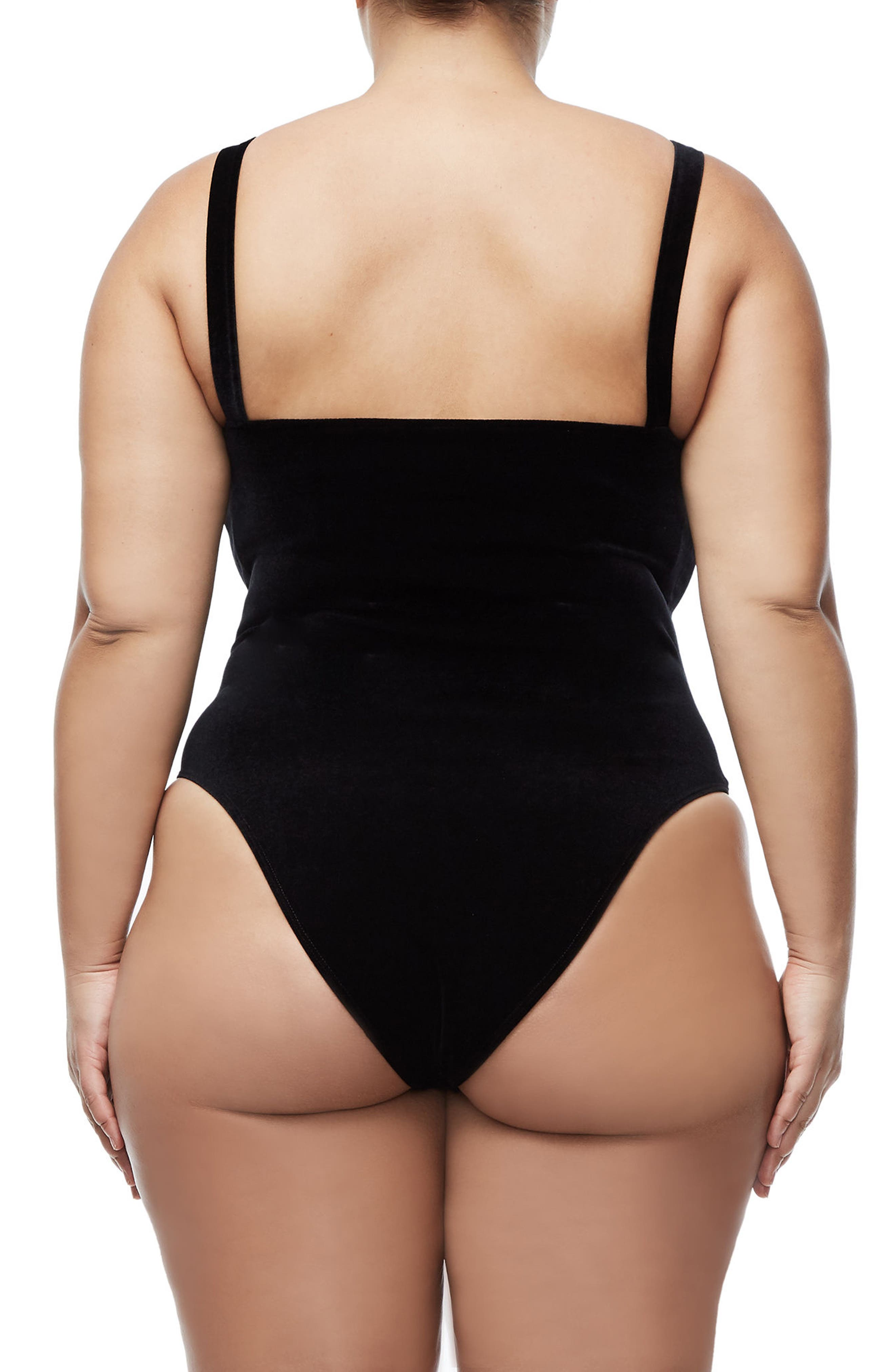 Sweetheart Bodysuit,                             Alternate thumbnail 5, color,                             BLACK001