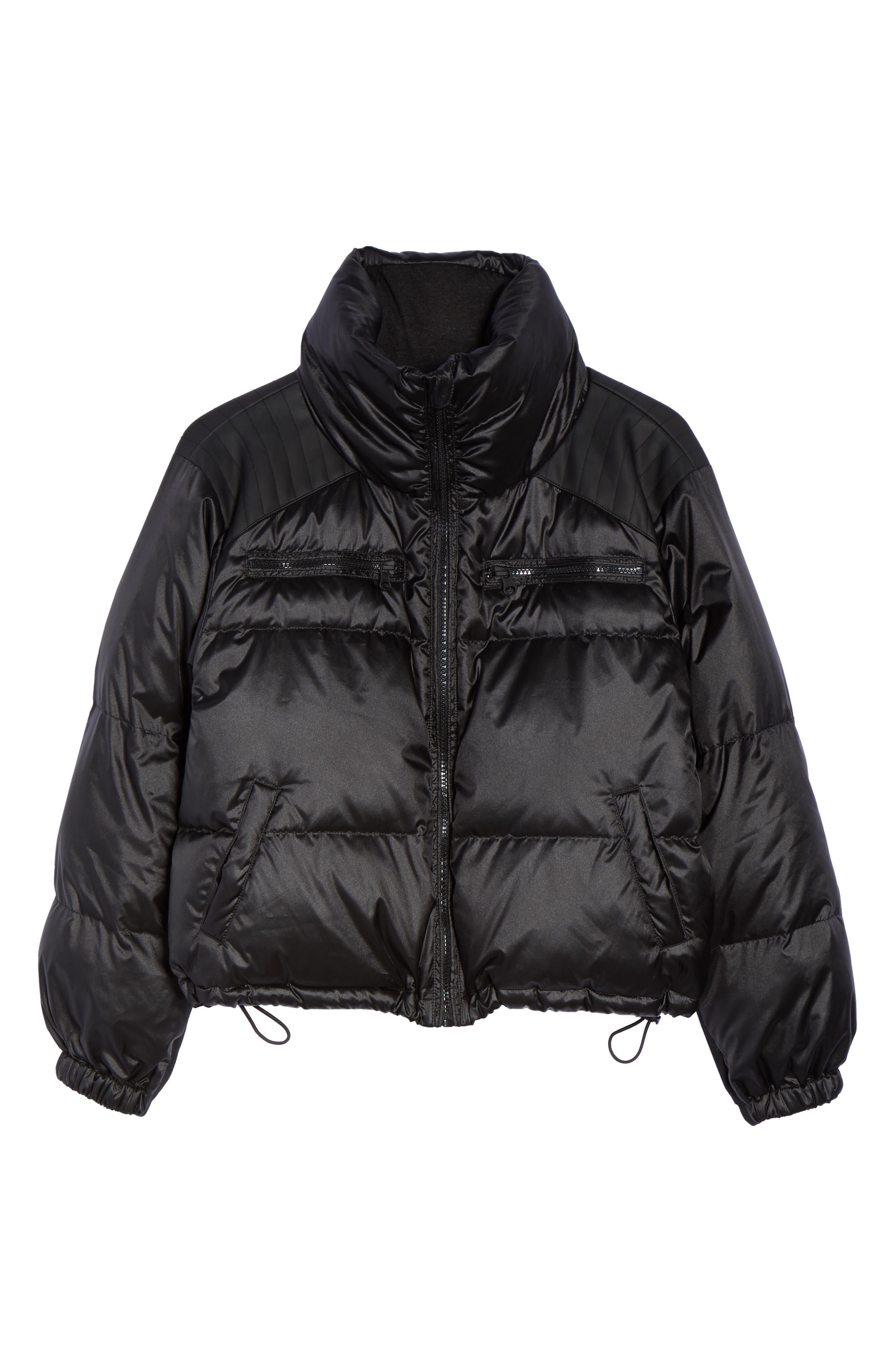 Reversible Puffer Jacket,                             Alternate thumbnail 7, color,                             001