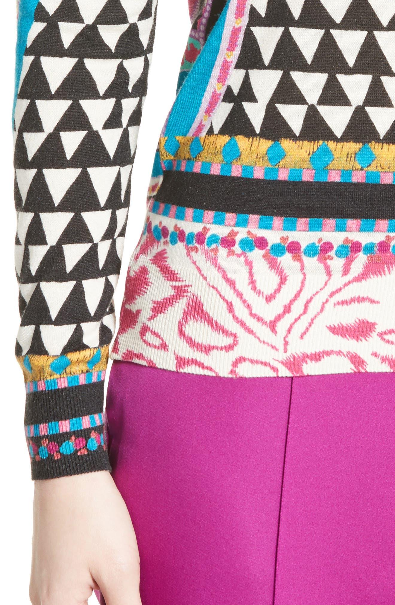 Geo Silk & Cashmere Sweater,                             Alternate thumbnail 4, color,                             650