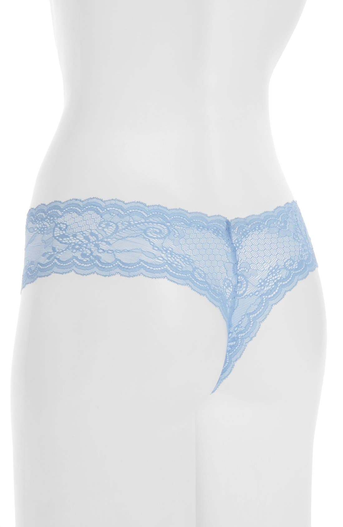 'Trenta' Low Rise Lace Thong,                             Alternate thumbnail 54, color,