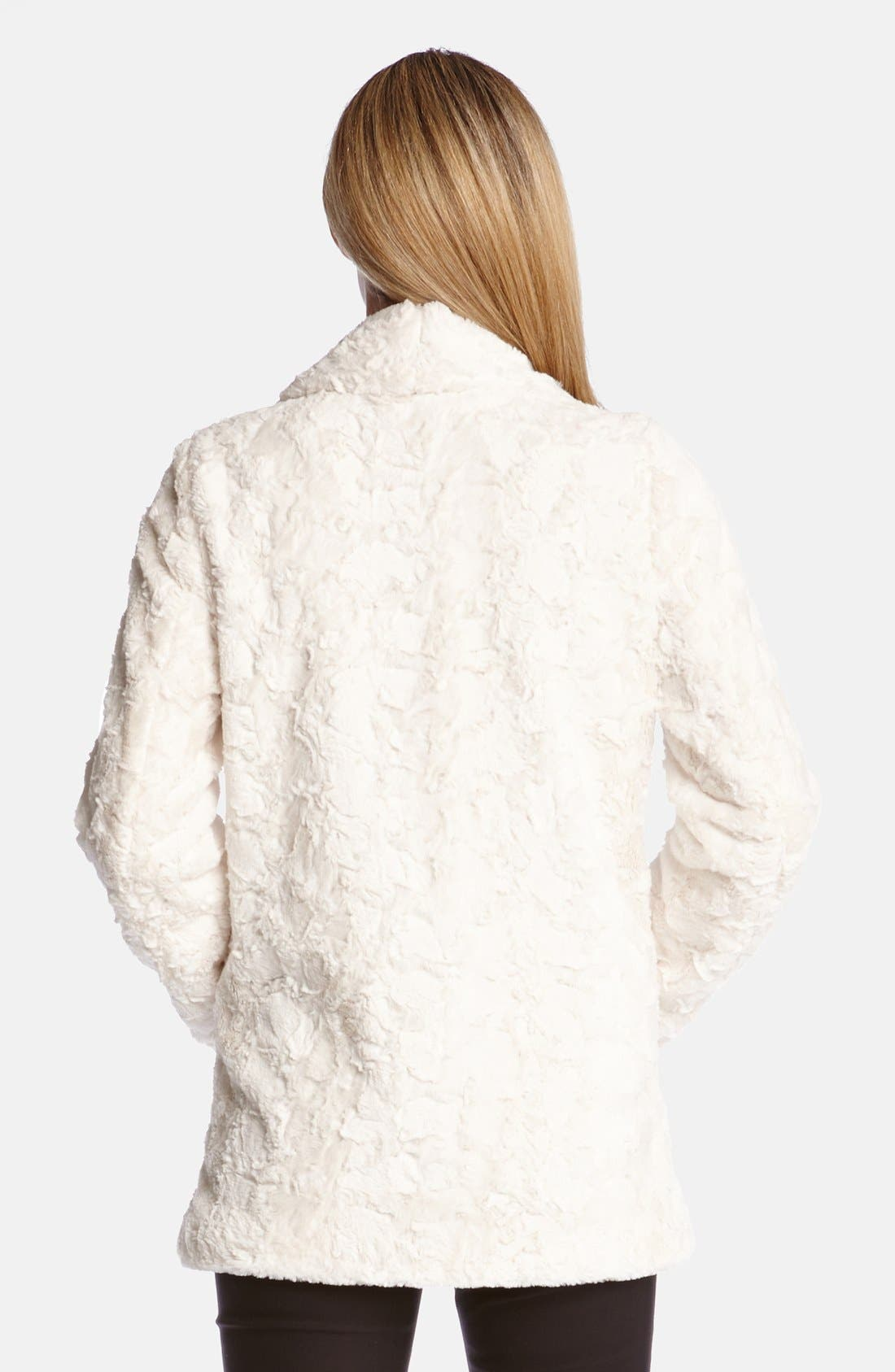 Faux Fur Jacket,                             Alternate thumbnail 2, color,                             101