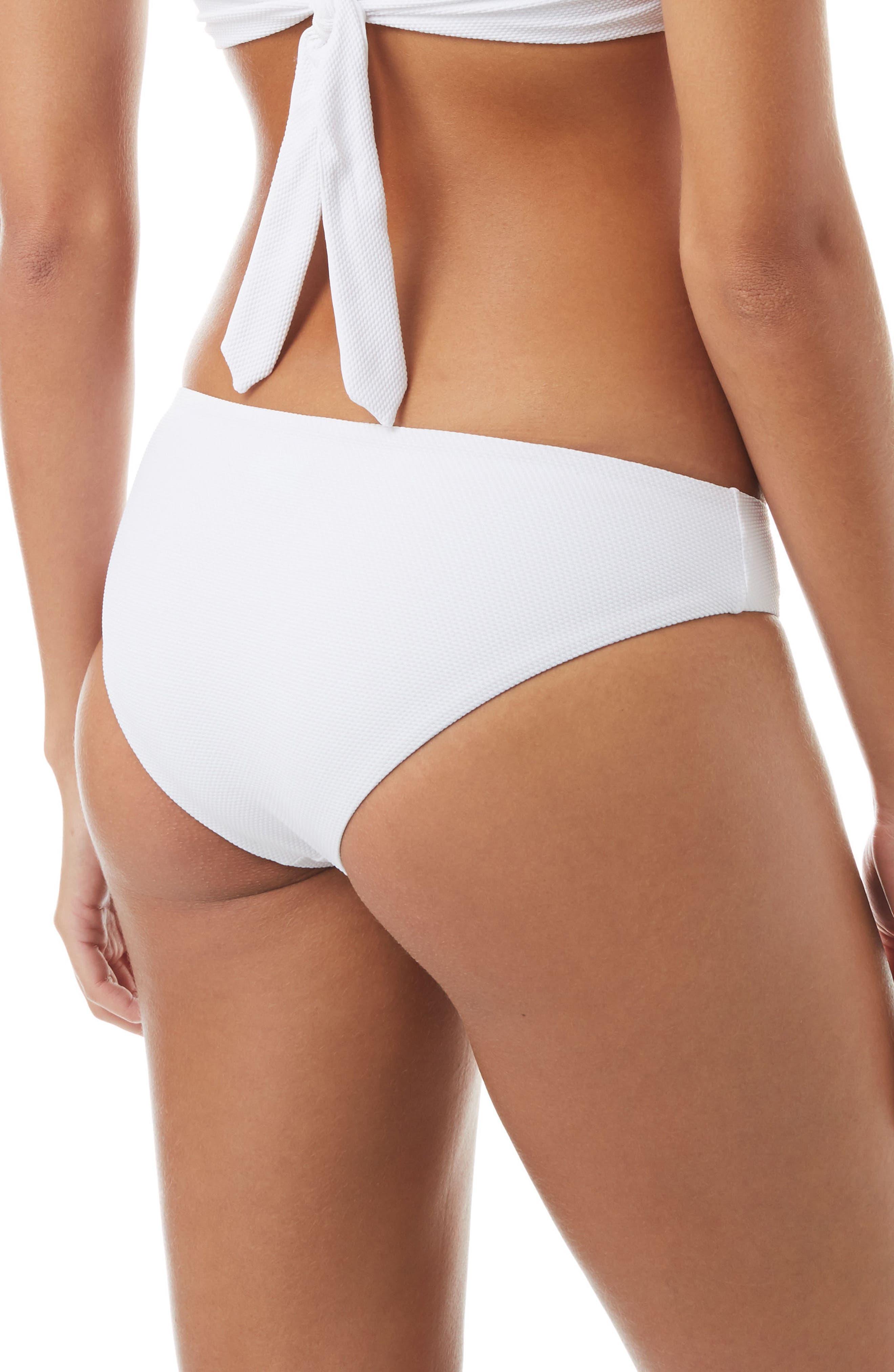 Africa Bikini Bottoms,                             Alternate thumbnail 2, color,                             PIQUE WHITE