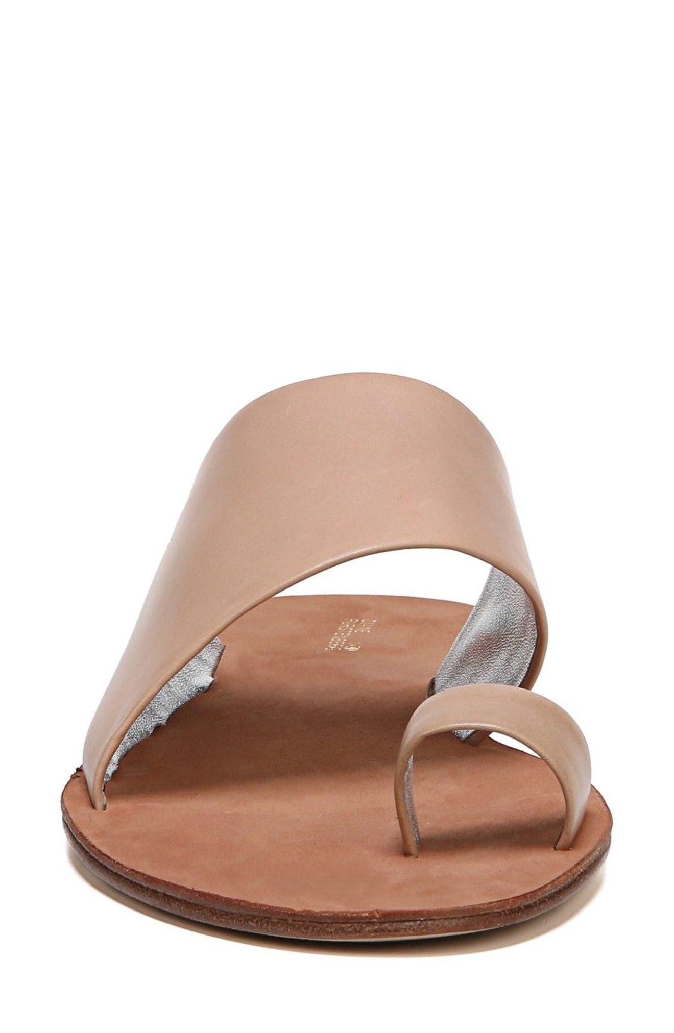 Brittany Asymmetrical Flat Sandal,                             Alternate thumbnail 4, color,                             202