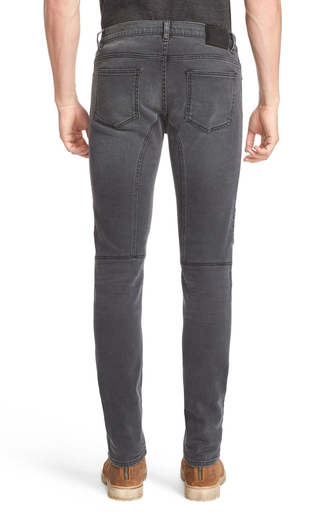Eastham Slim Fit Stretch Denim Moto Jeans,                             Alternate thumbnail 4, color,                             022