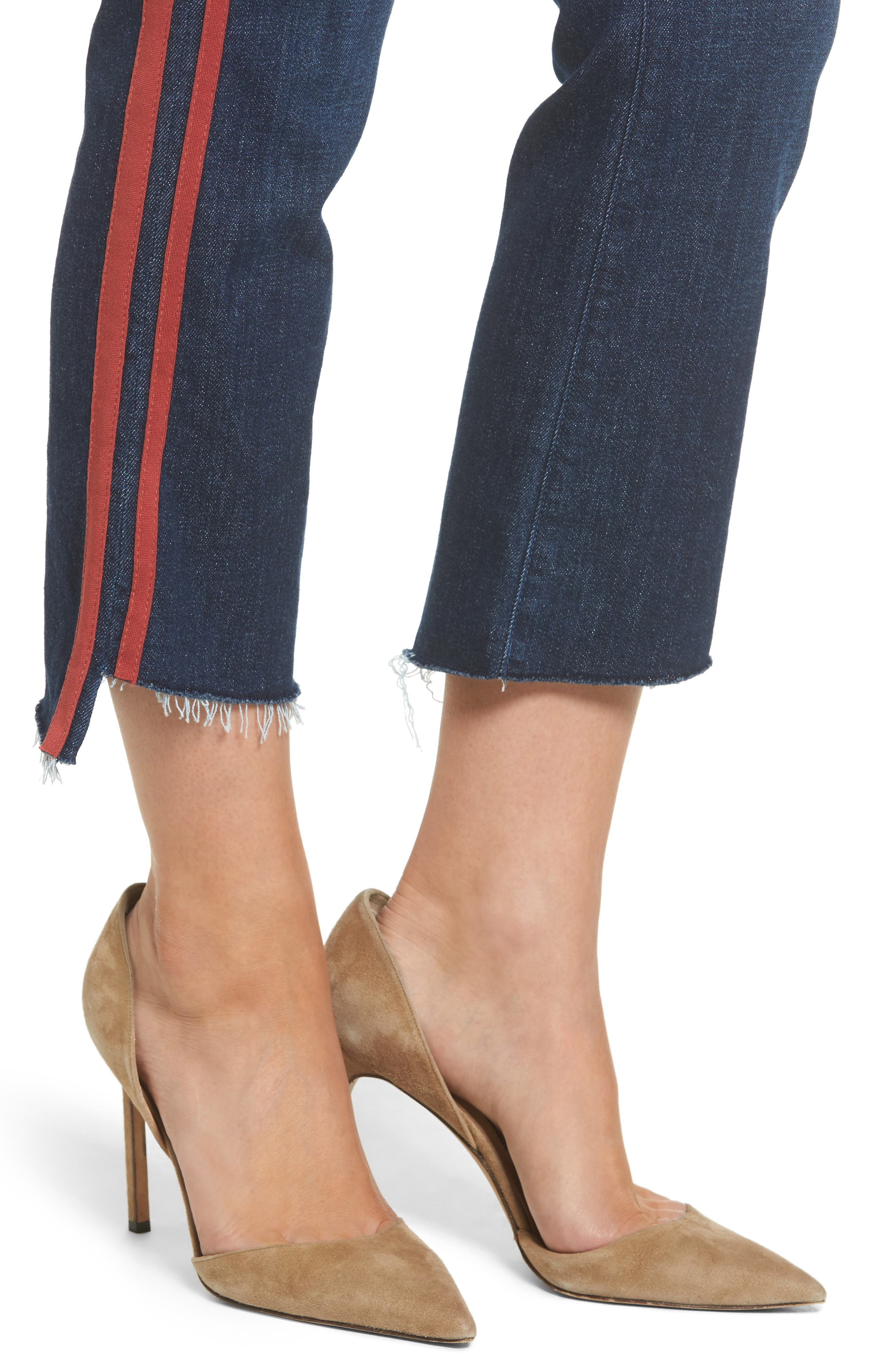 Crop Step Fray Jeans,                             Alternate thumbnail 4, color,                             402