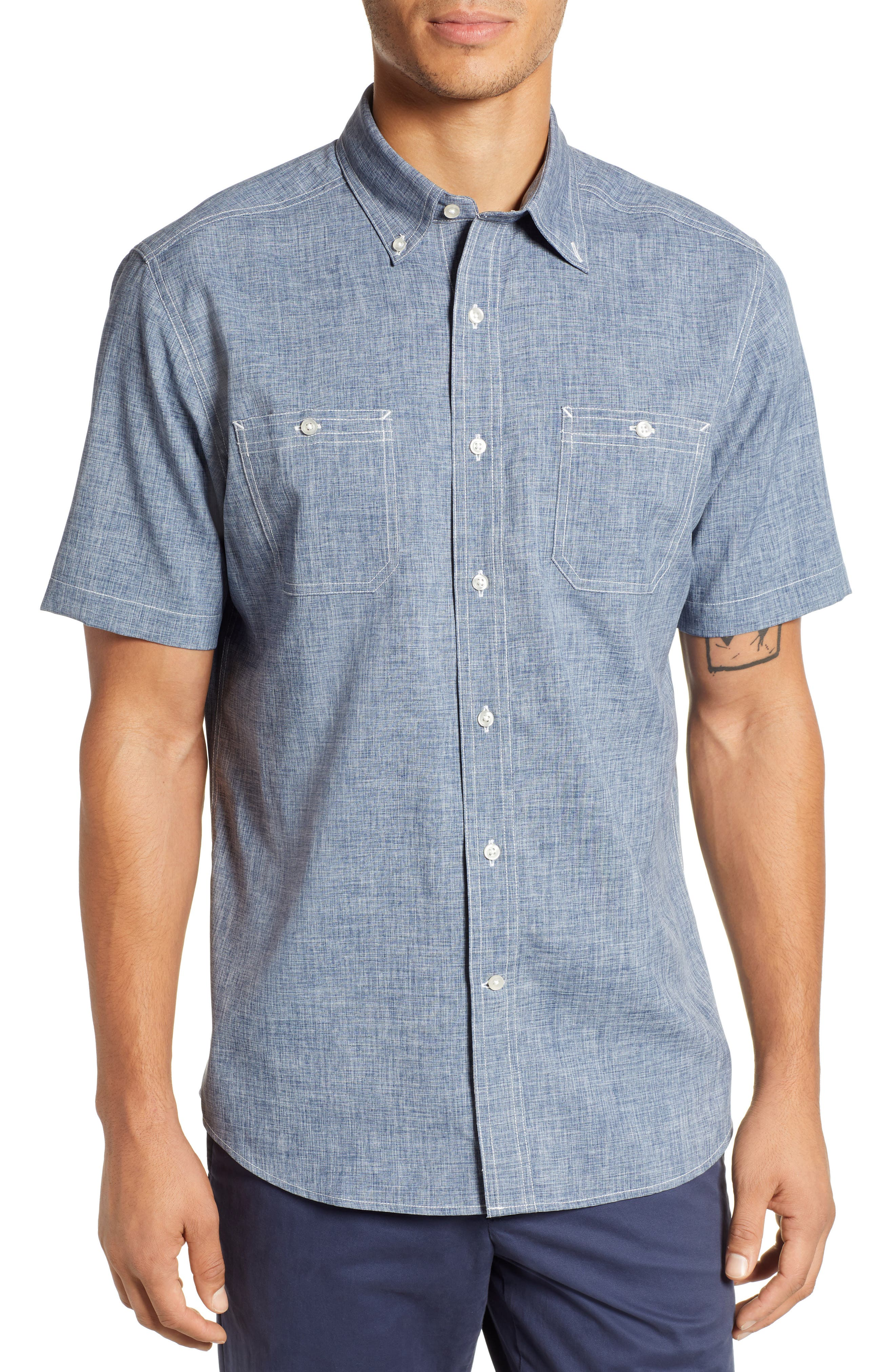 SOUTHERN TIDE St. Dockside Regular Fit Sport Shirt in Seven Seas Blue