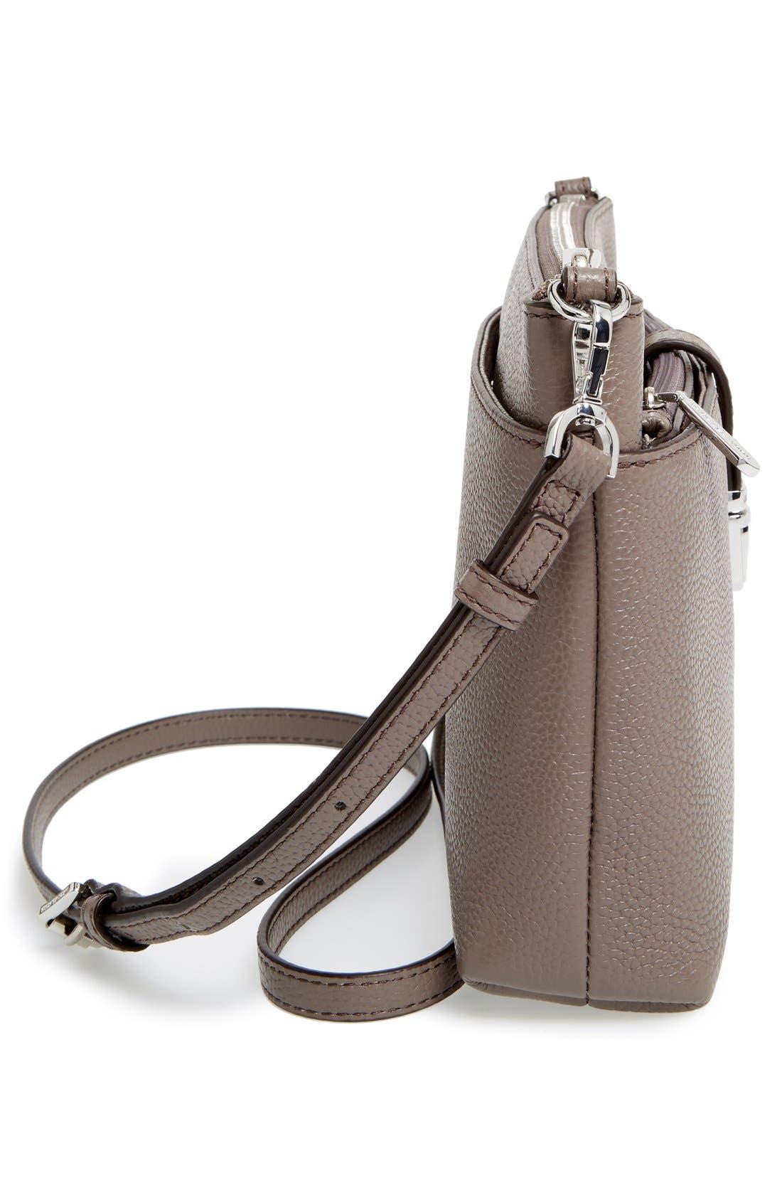 Large Mercer Leather Crossbody Bag,                             Alternate thumbnail 3, color,                             513