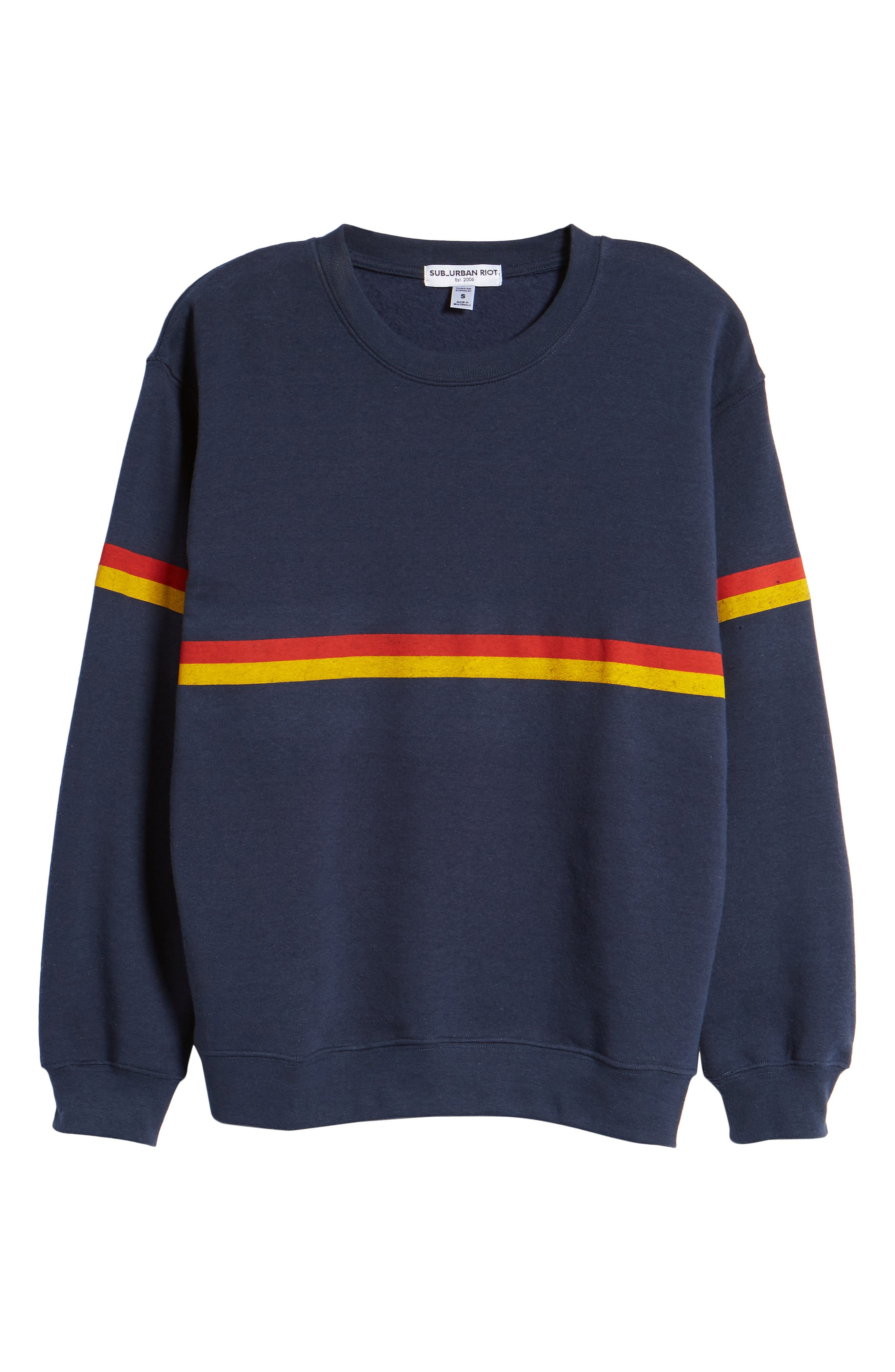 Zelda Willow Stripe Sweatshirt,                             Alternate thumbnail 6, color,                             410