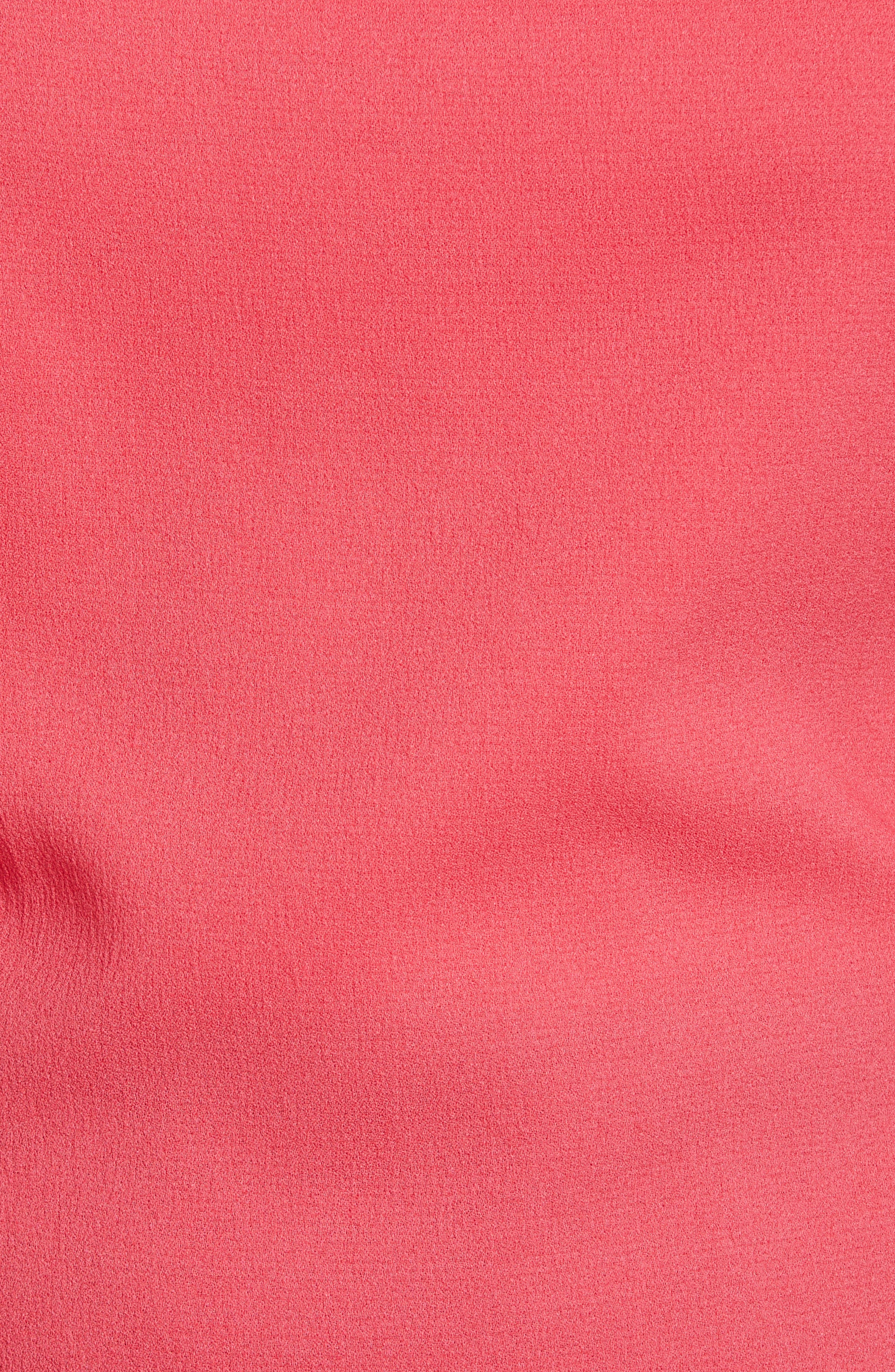 Ruched Crepe Top,                             Alternate thumbnail 11, color,