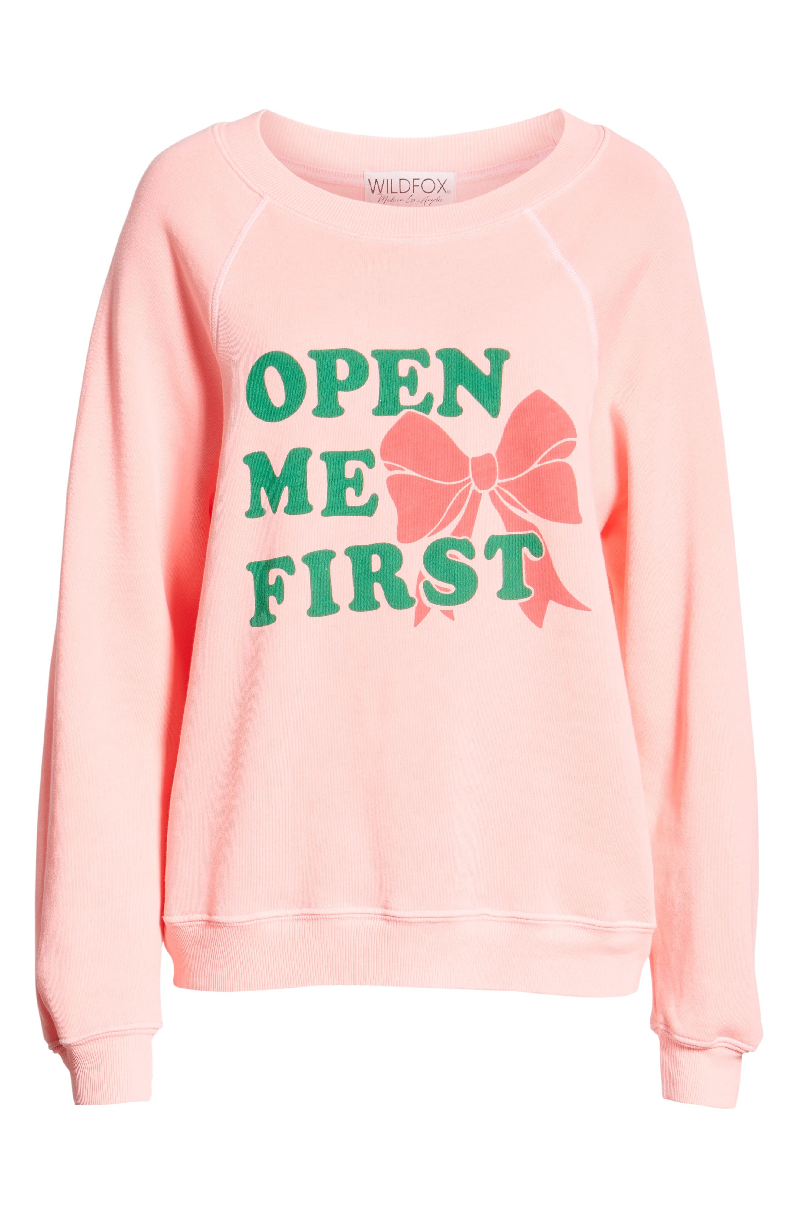 Open Me First Sommers Sweatshirt,                             Alternate thumbnail 6, color,                             NEON SIGN
