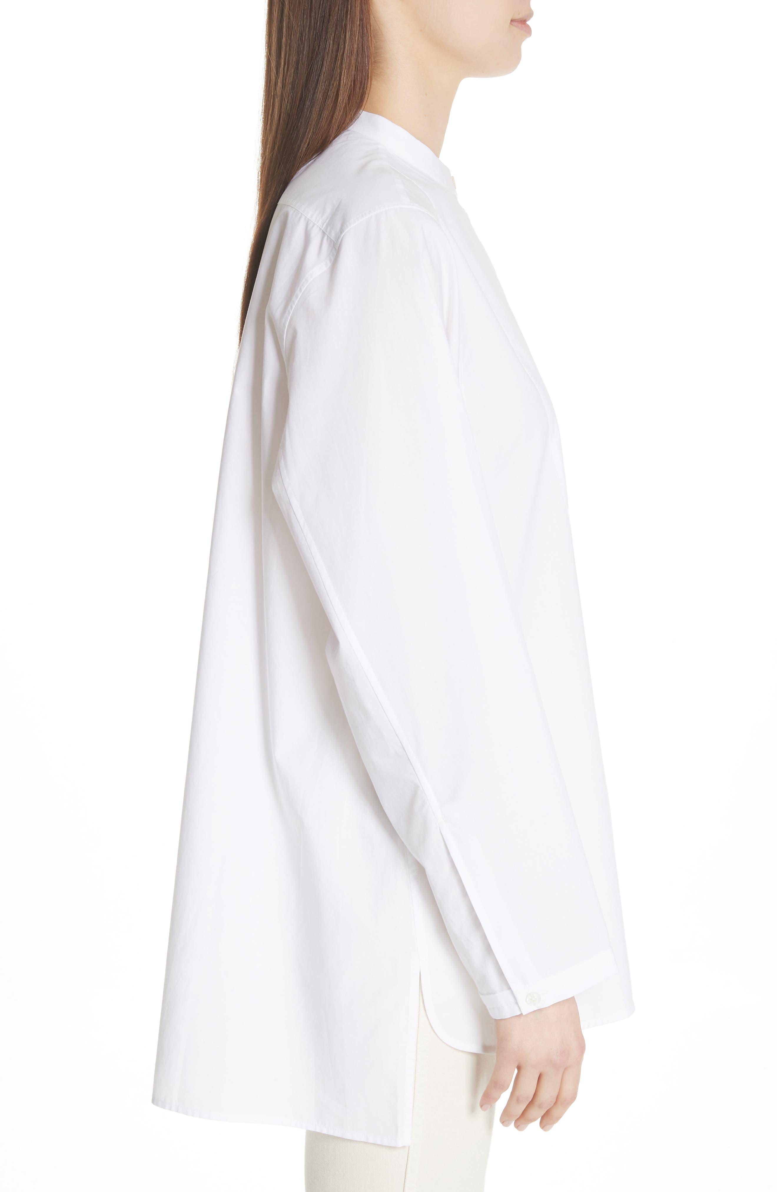 Lysanne Poplin Shirt,                             Alternate thumbnail 3, color,                             100