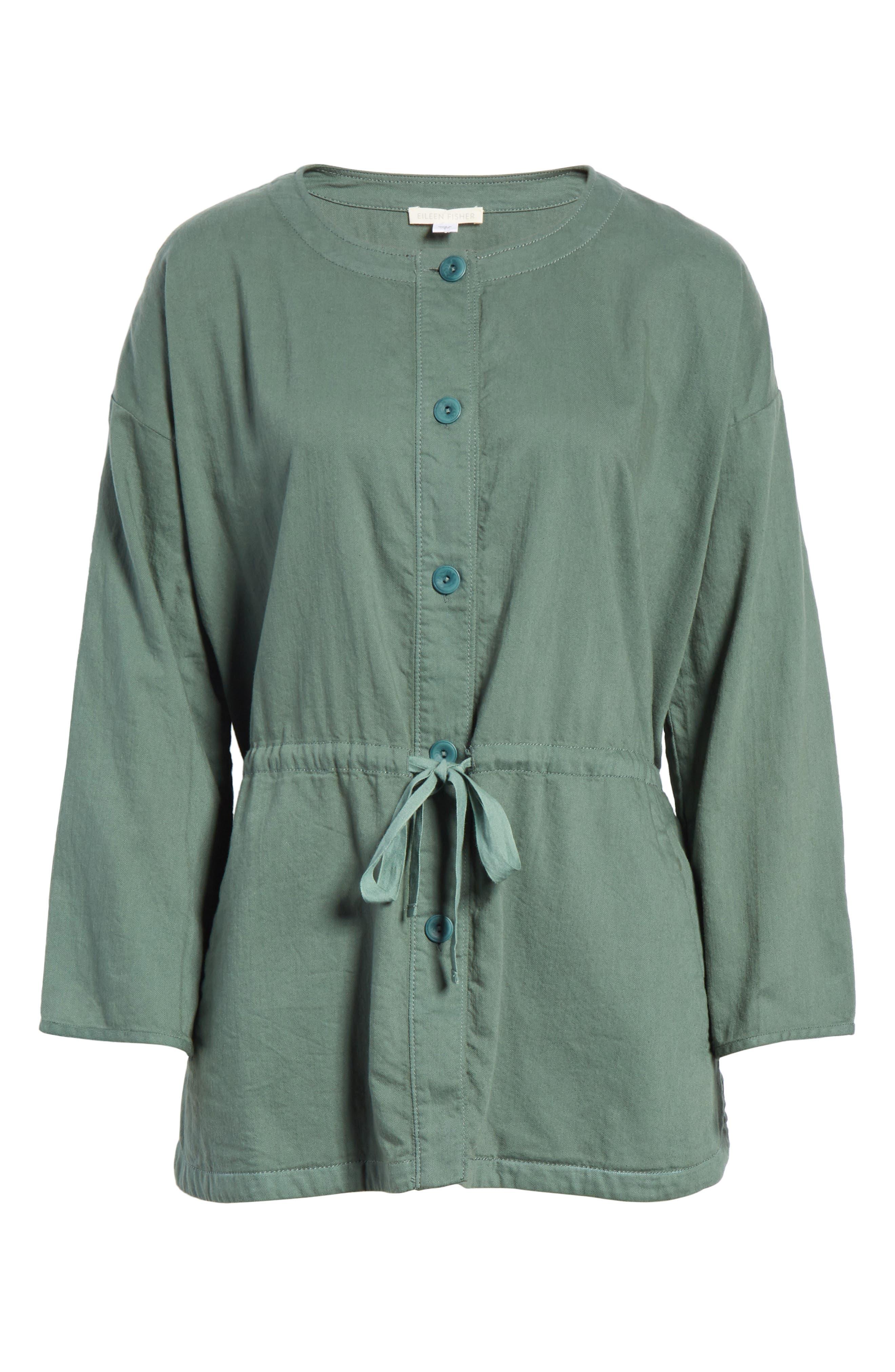 Shirttail Hem Organic Cotton Jacket,                             Alternate thumbnail 11, color,