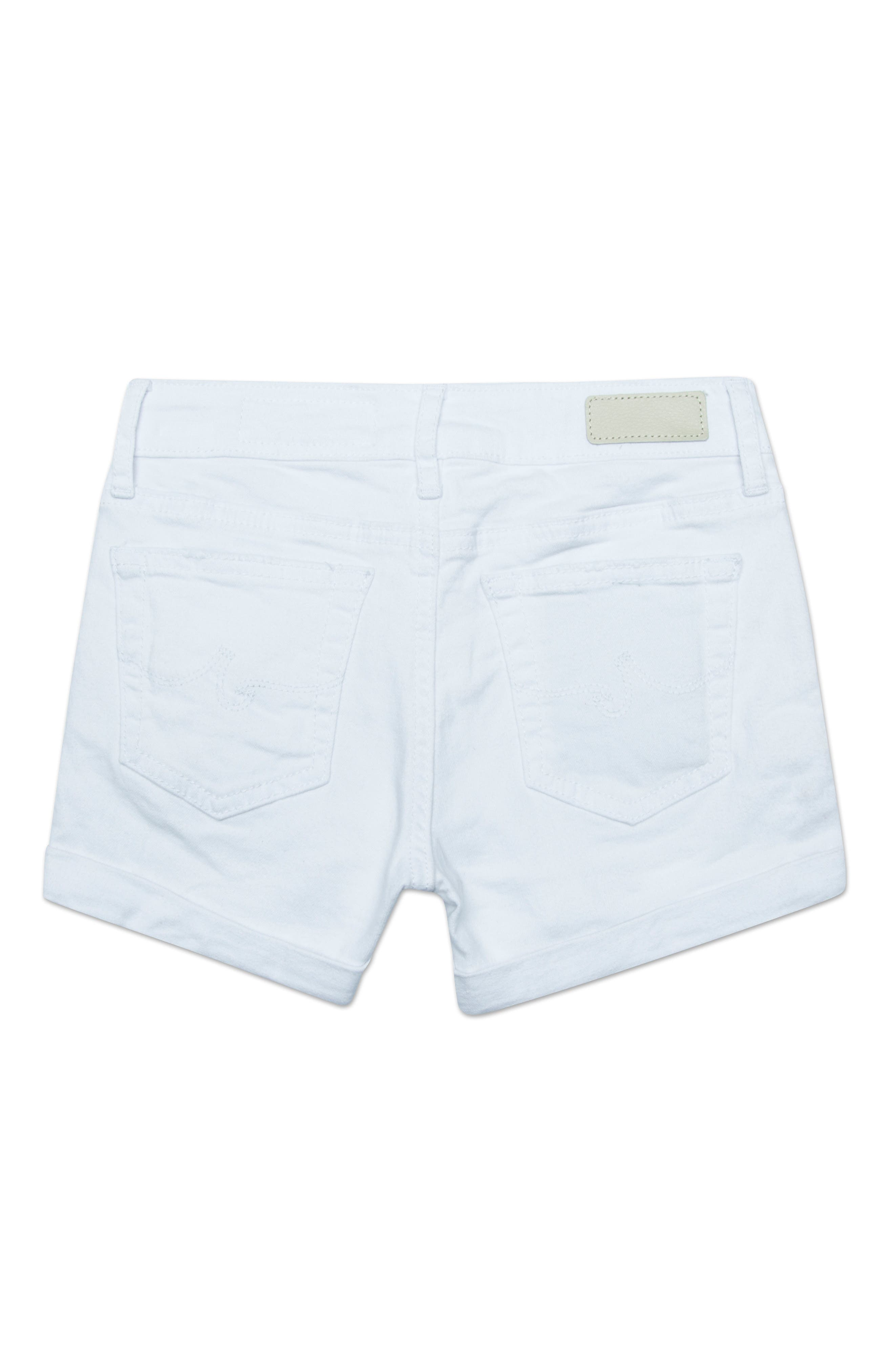 The Heather Roll Cuff Shorts,                             Alternate thumbnail 2, color,                             WHITE
