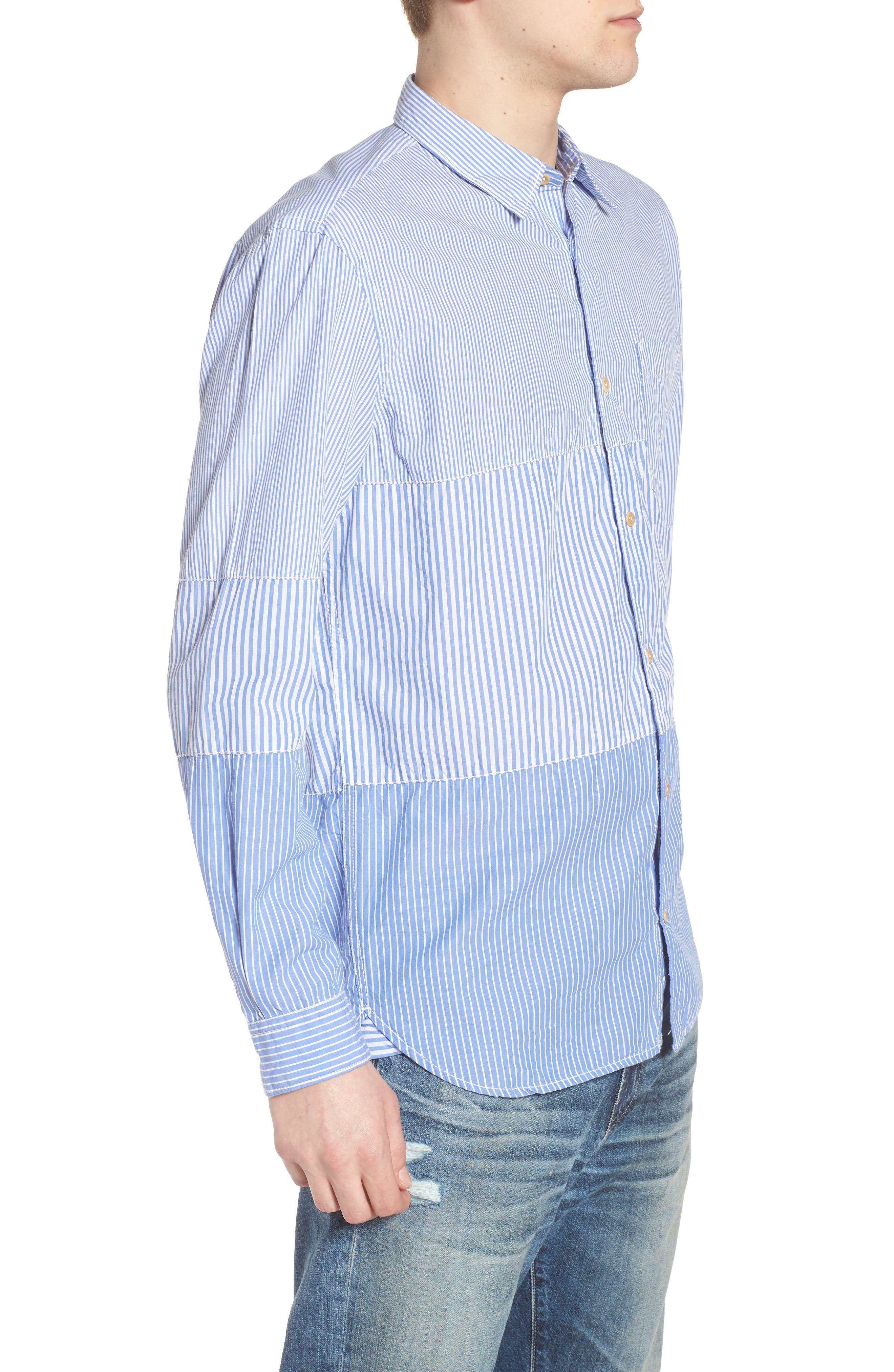 Regular Fit Stripe Sport Shirt,                             Alternate thumbnail 3, color,                             400
