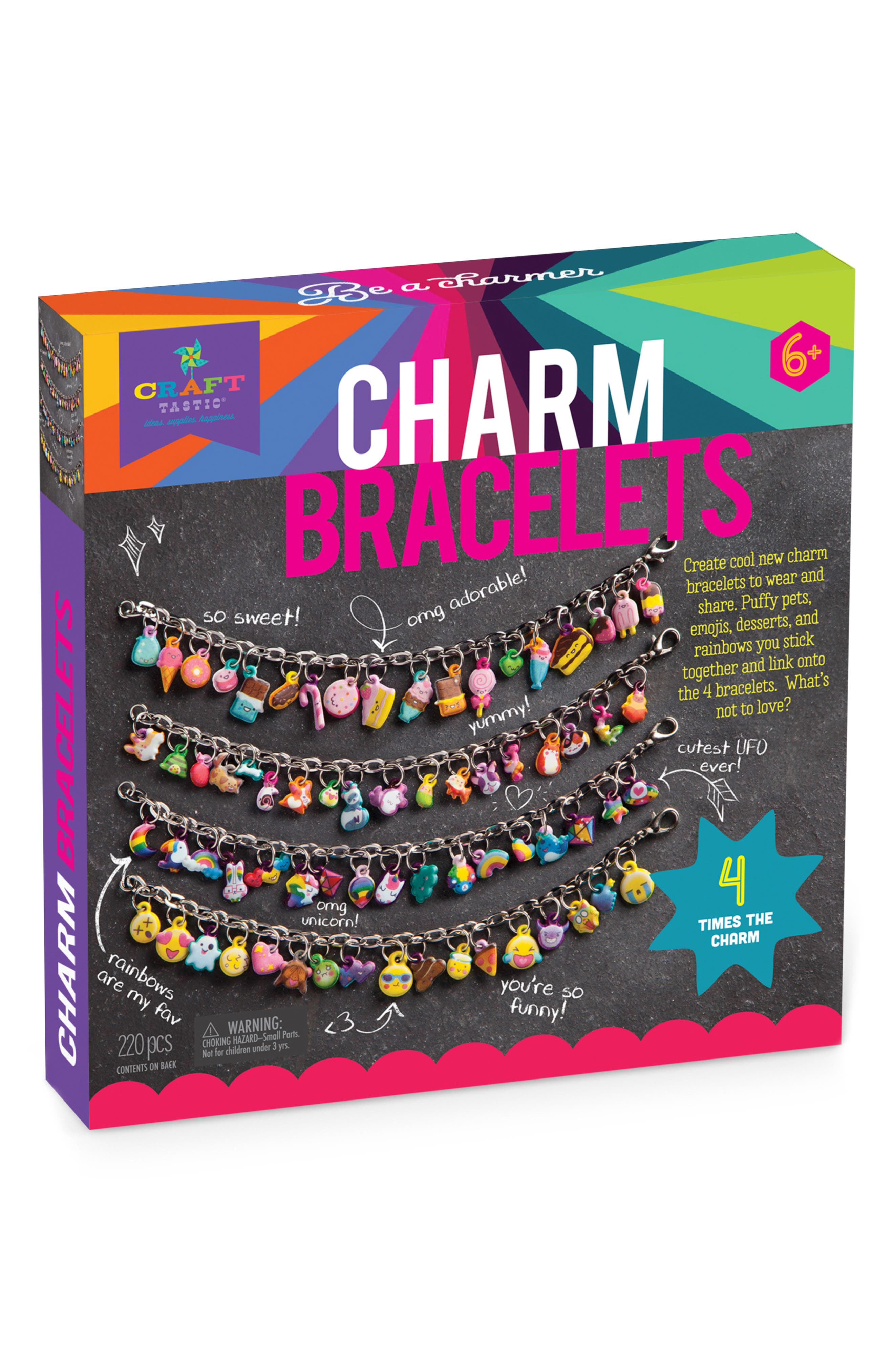 DIY Charm Bracelet Set,                         Main,                         color, MULTI